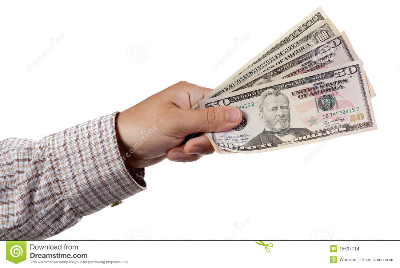 cash in hand isolated on white stock photo image of buying paper