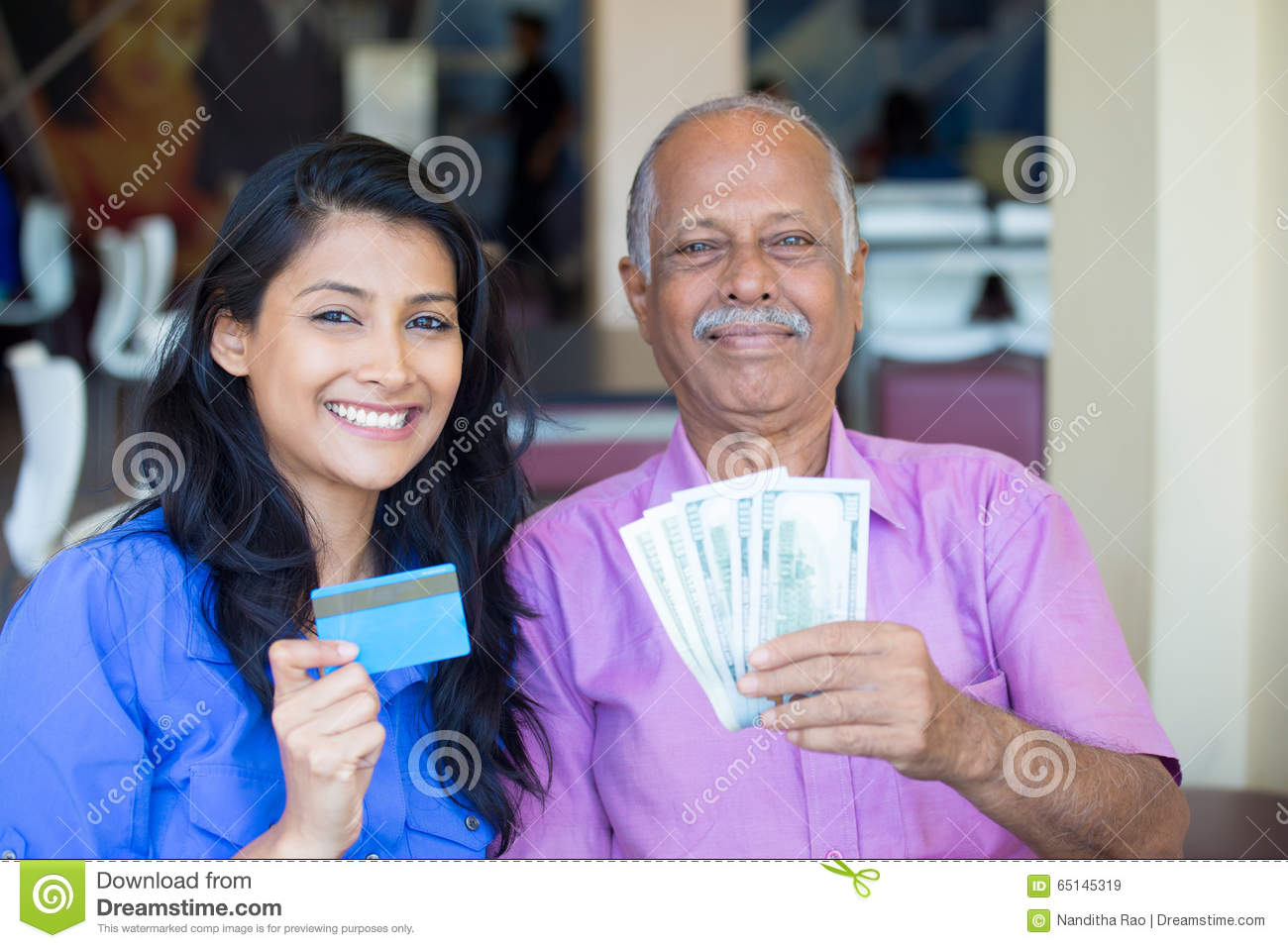Stock illustrations senior citizen lady with a sign stock clipart - Cash Money Credit Exchange Stock Photo Image 65145319