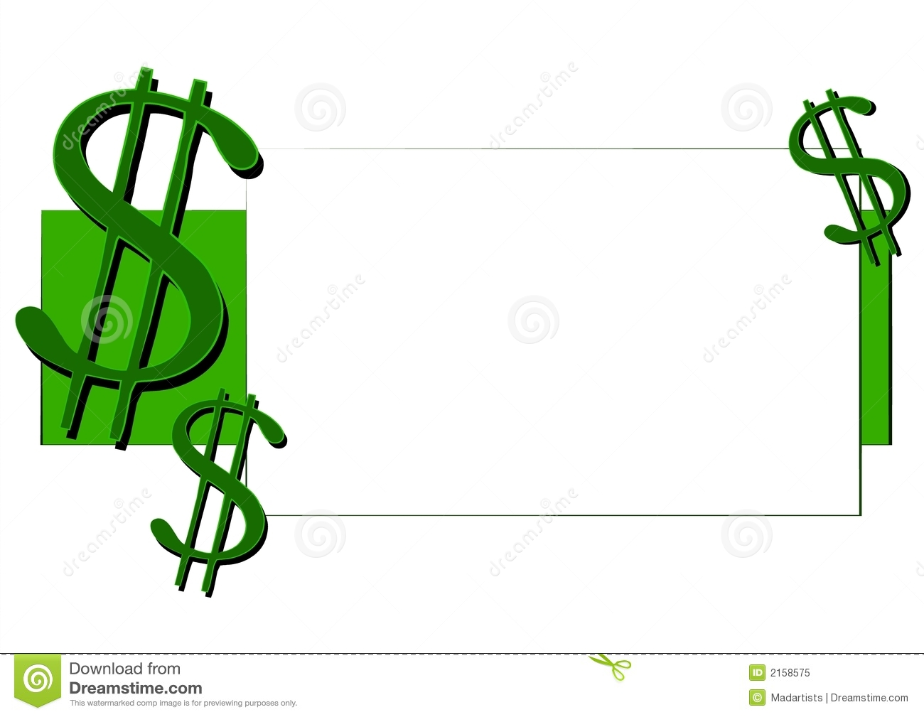 dollar signs money clip art 3 stock illustration illustration of rh dreamstime com $50 Bill Clip Art Empty Jaguar Clip Art