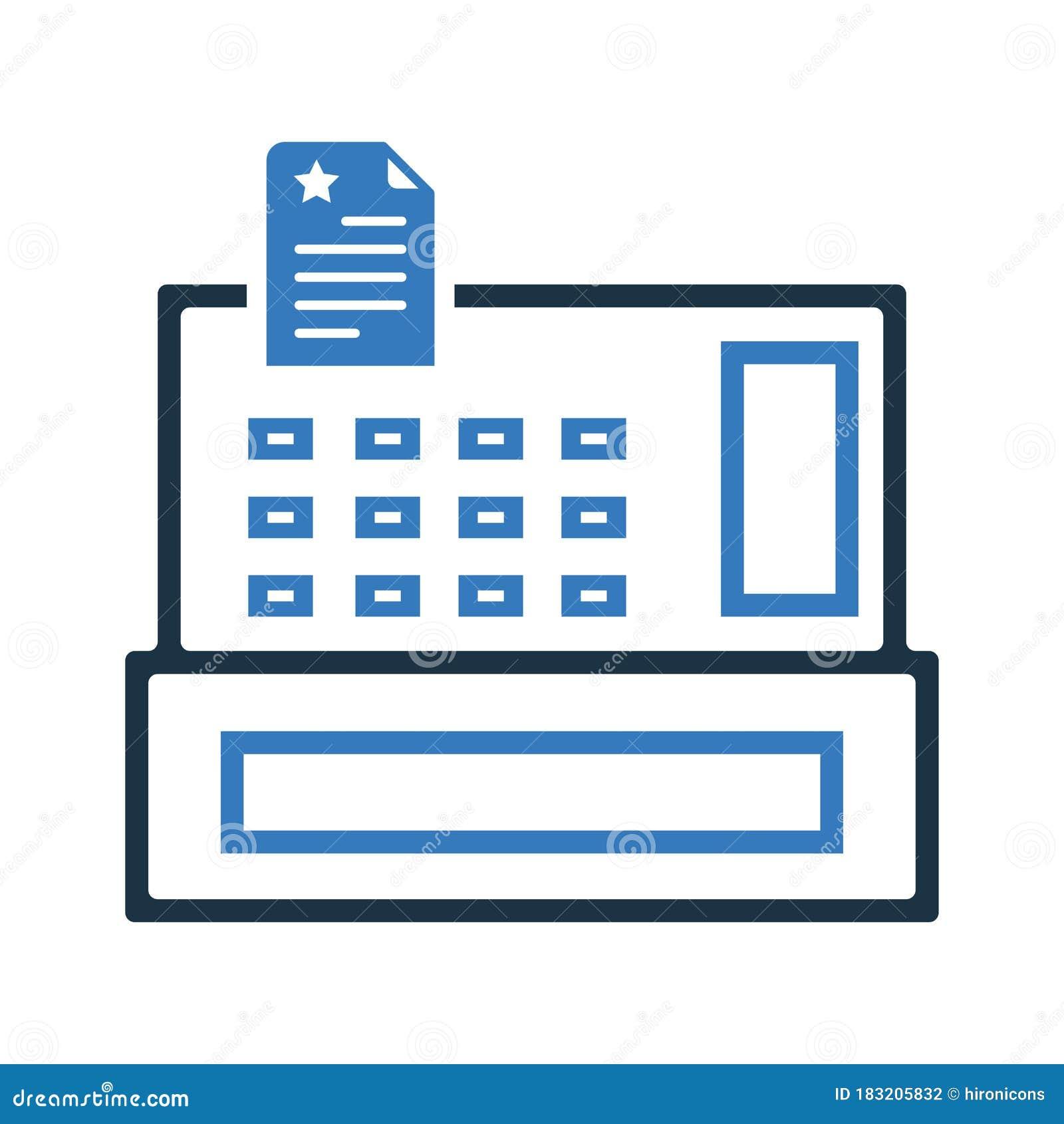 Cash Receipt Register Icon Stock Vector Illustration Of Receipt Symbol 183205832