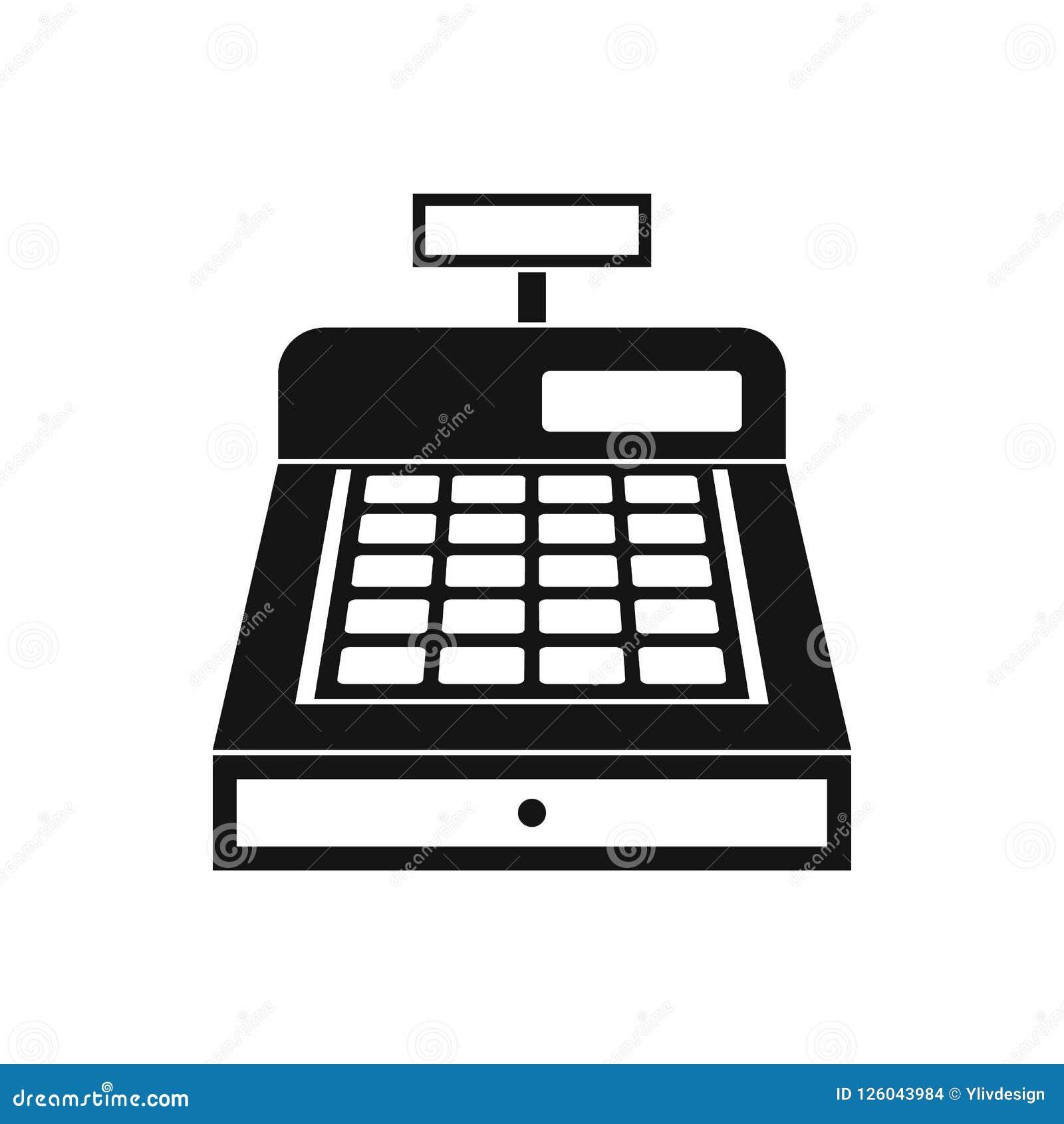 cash register icon simple style stock illustration illustration