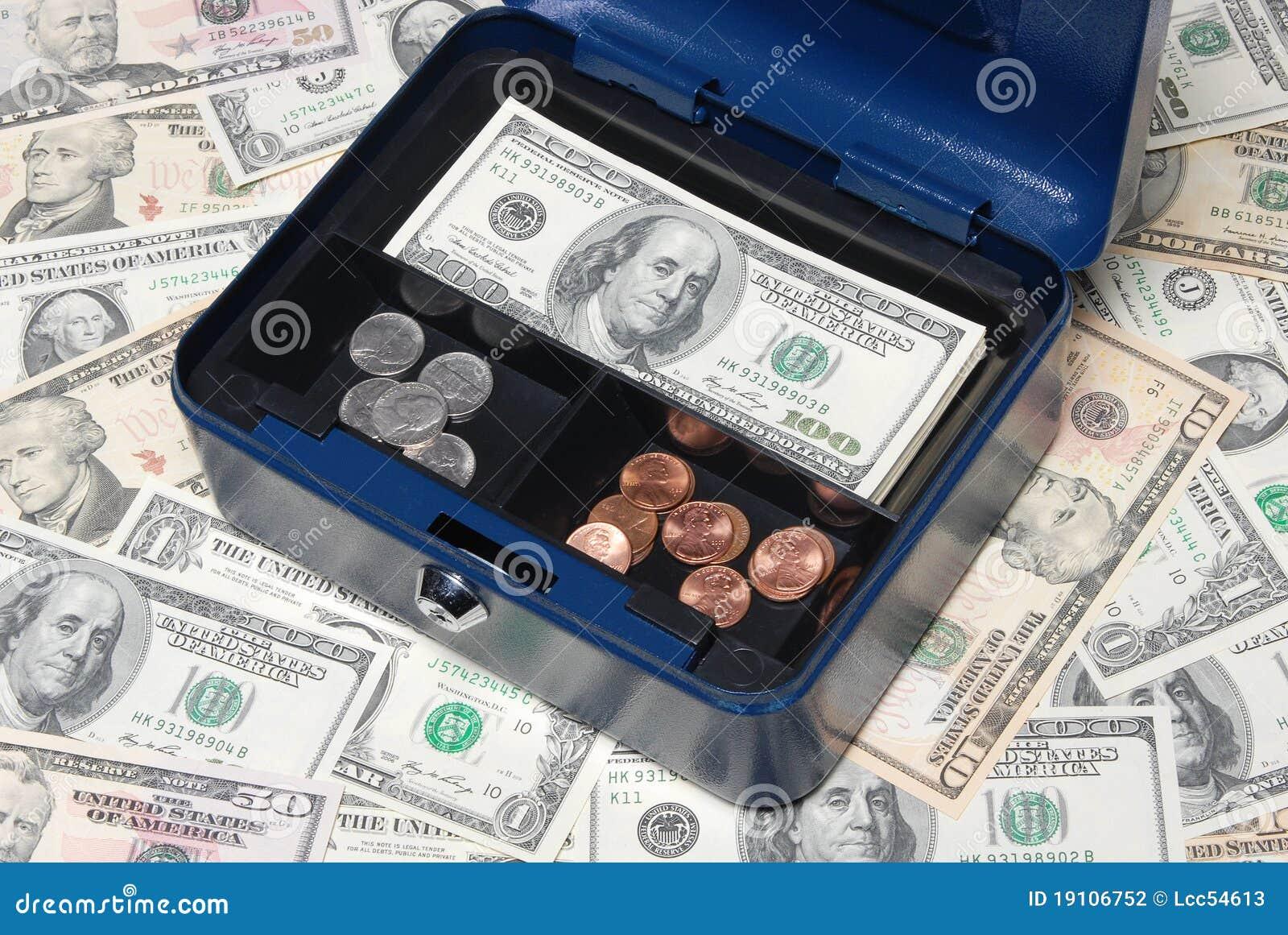 Cash Safety Deposit Box Stock Photography Image 19106752