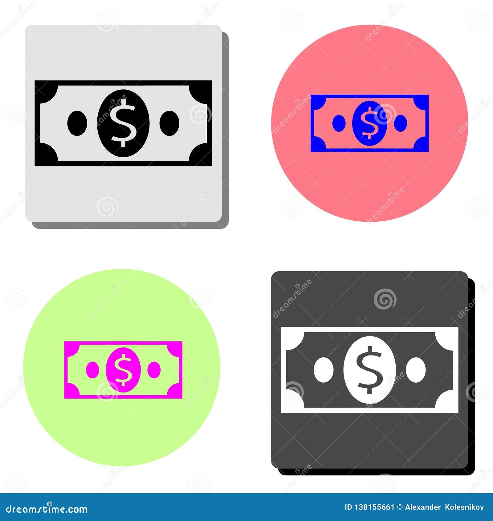 Cash Vlak vectorpictogram