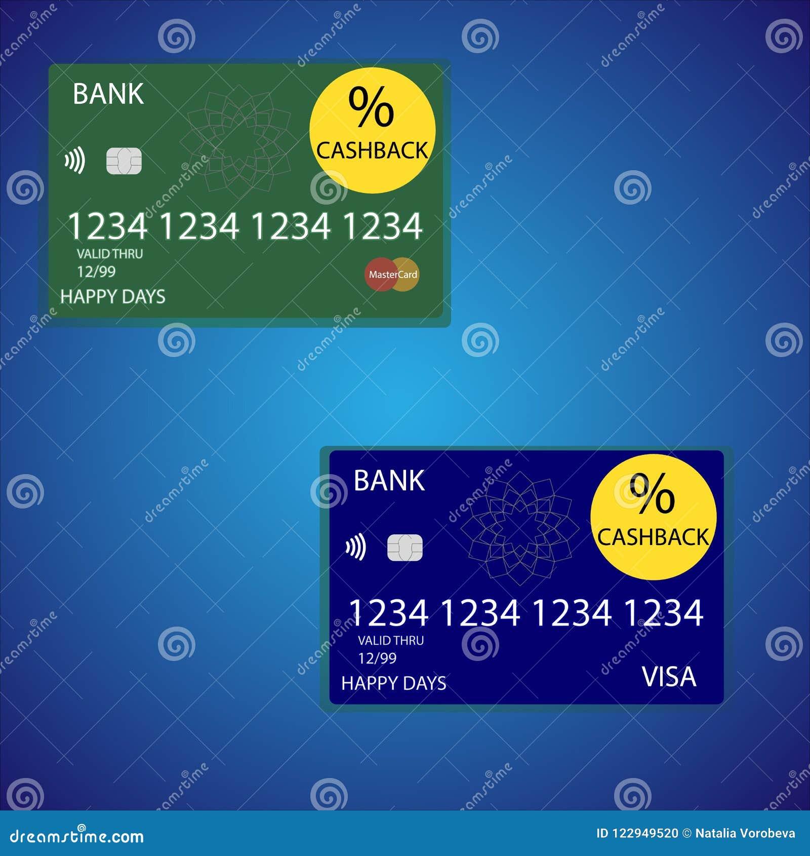 Cashback cards vector illustration.