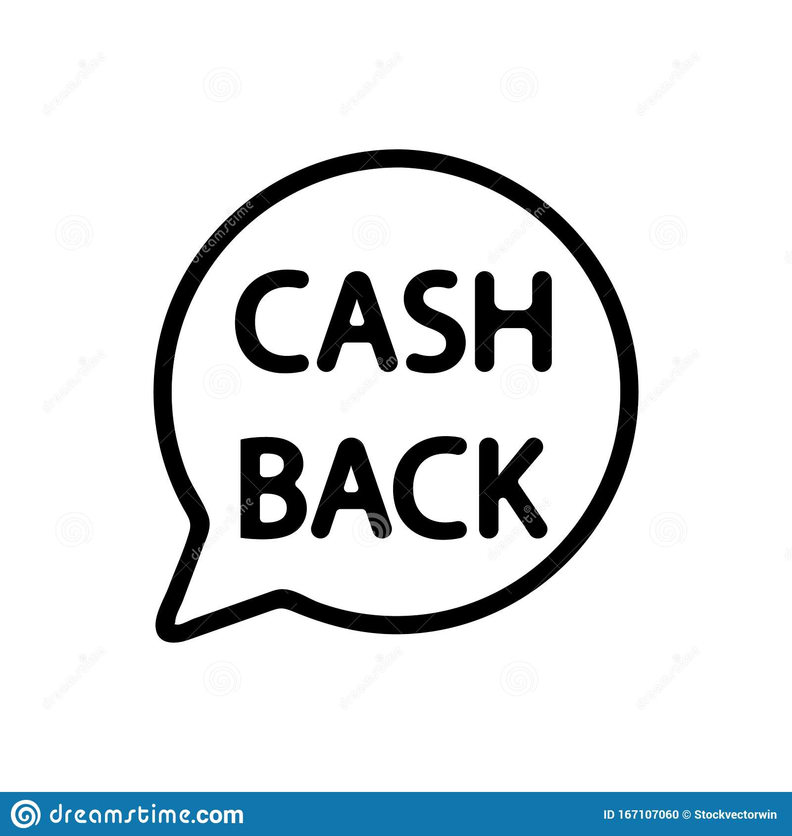 cashback icon vector isolated contour symbol illustration stock vector illustration of finance dollar 167107060 dreamstime com