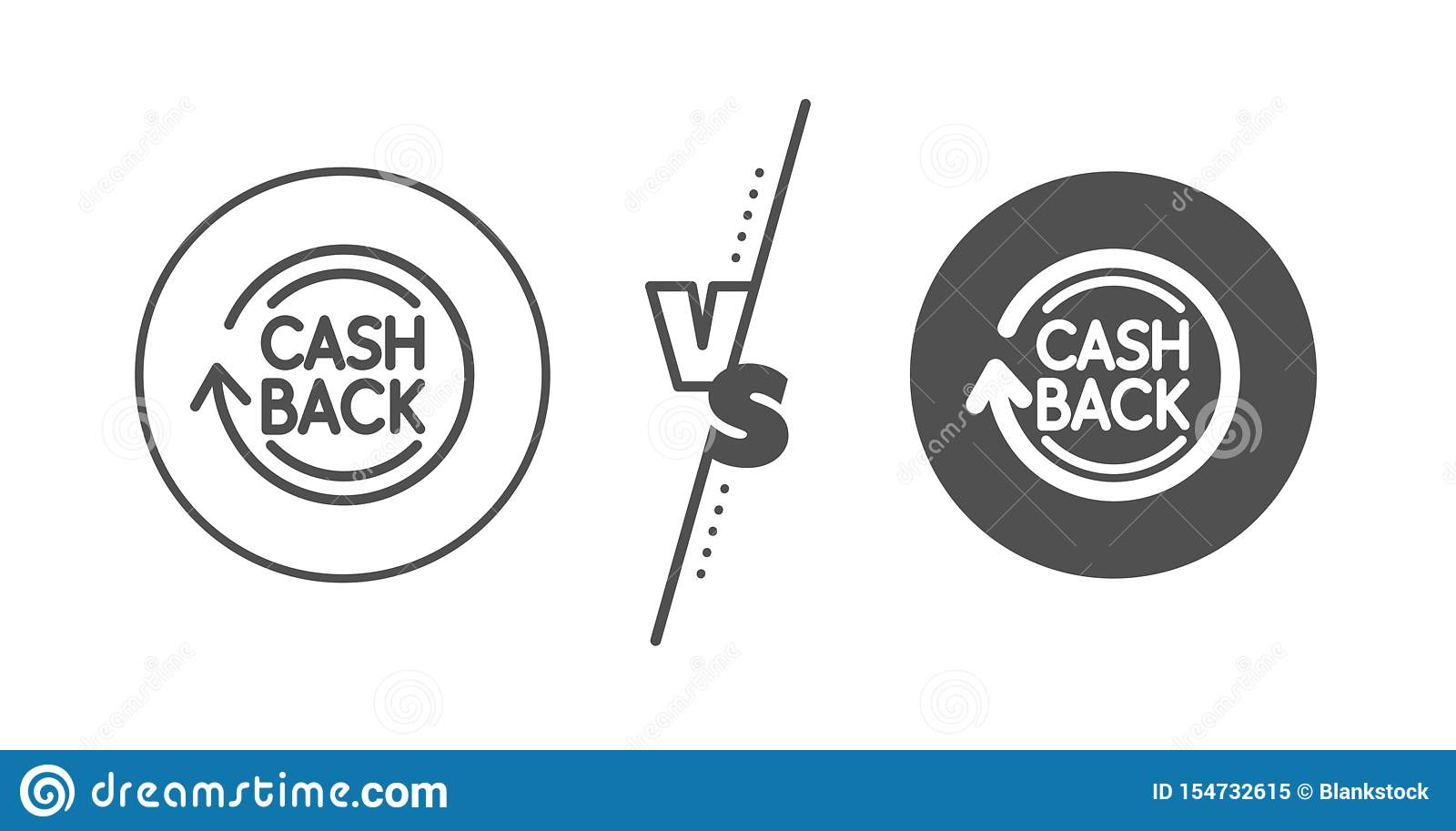 View Cashback Icon Vector