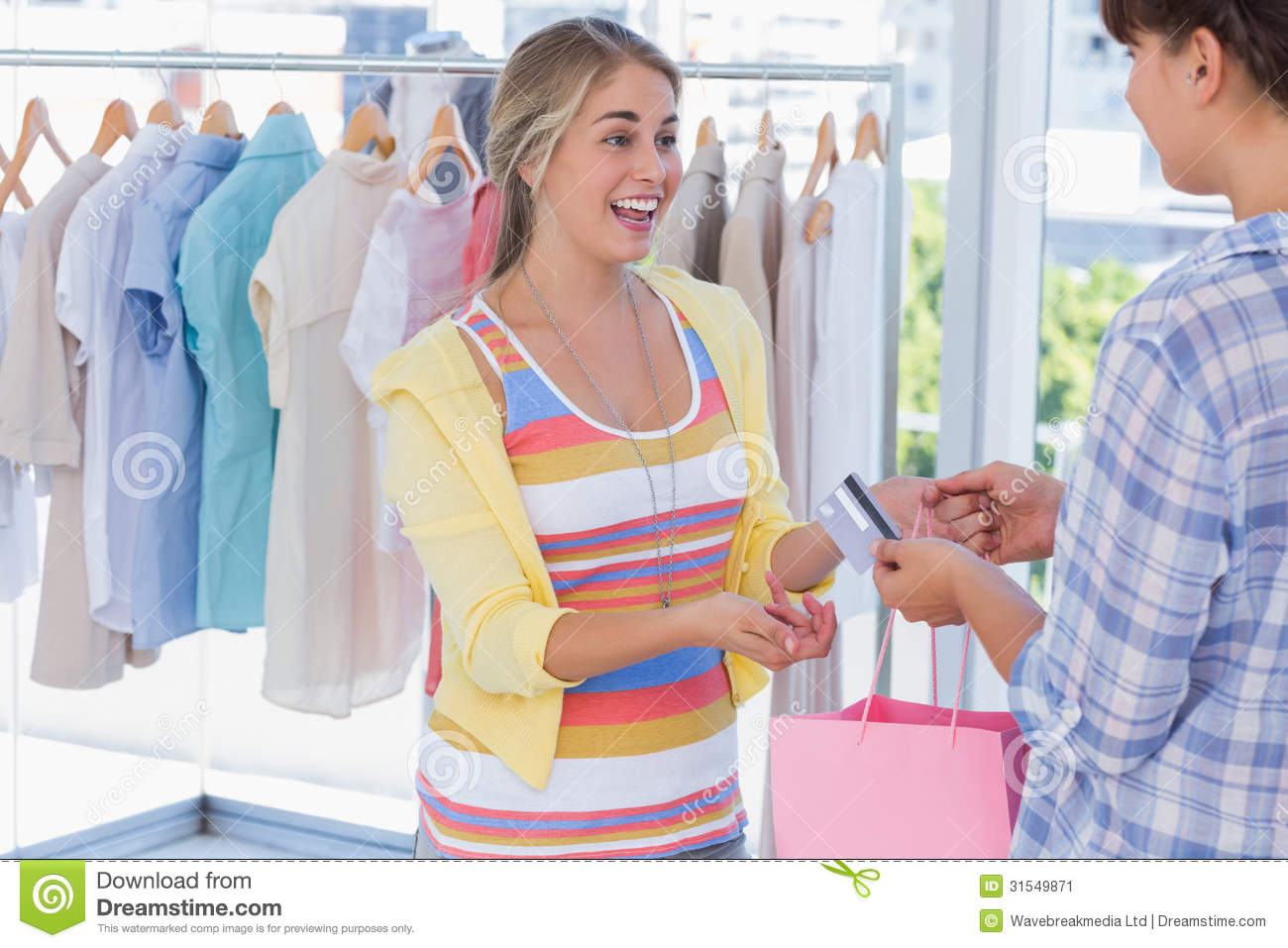 Clothing stores credit cards. Clothes stores
