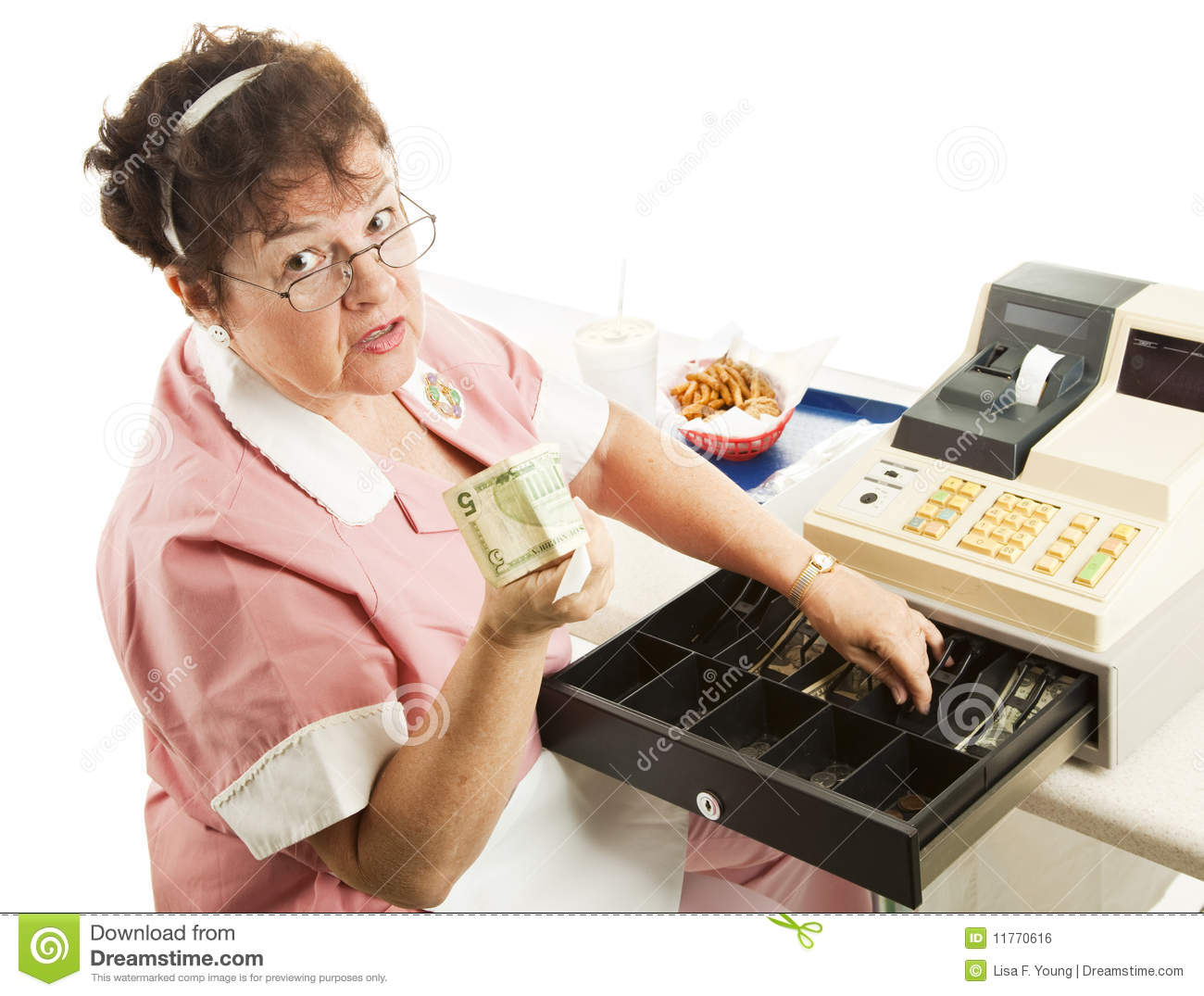 Cashier - Heres Your Change Royalty Free Stock Image - Image: 11770616