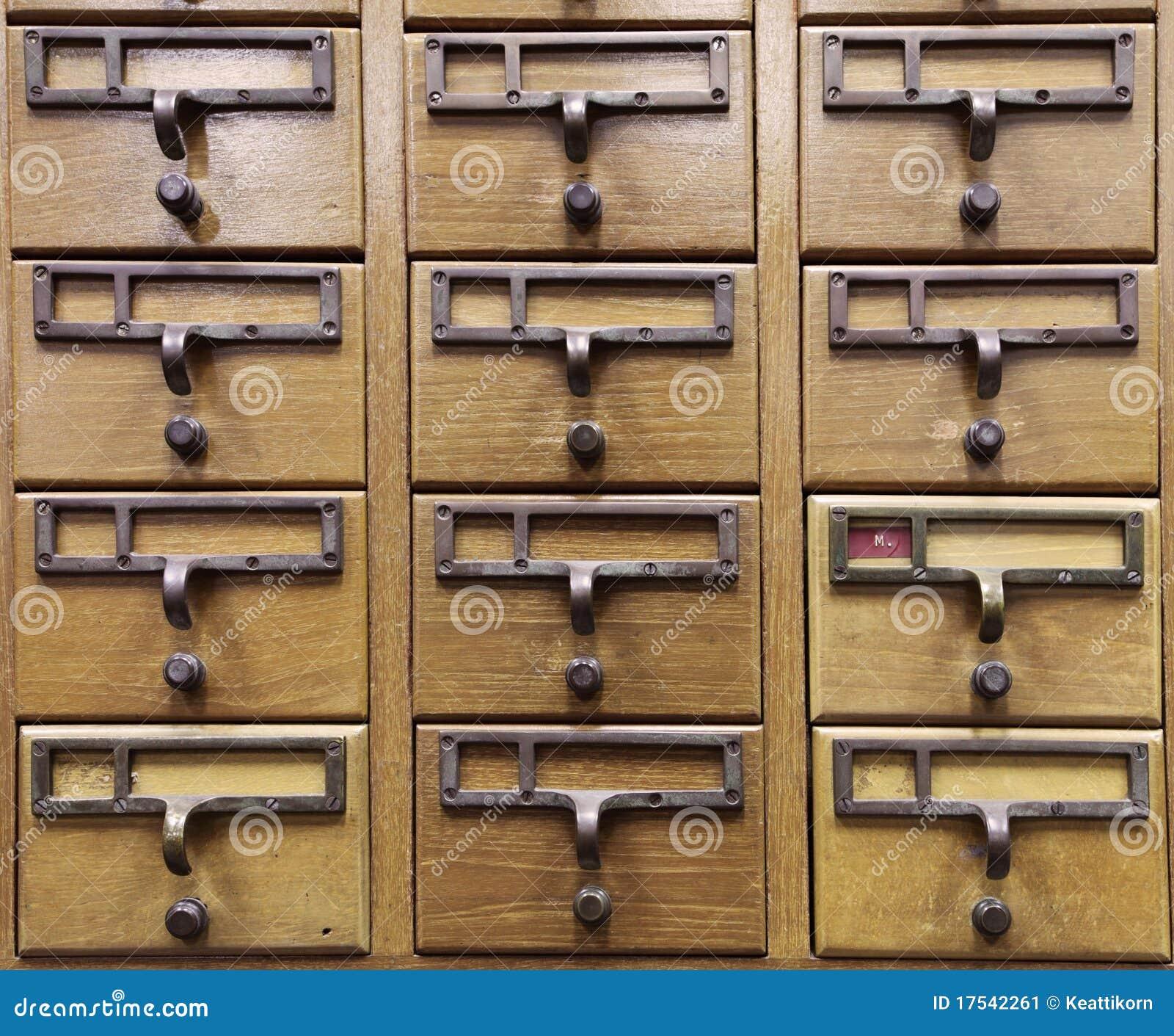 casier en bois de document image stock image du cadre. Black Bedroom Furniture Sets. Home Design Ideas