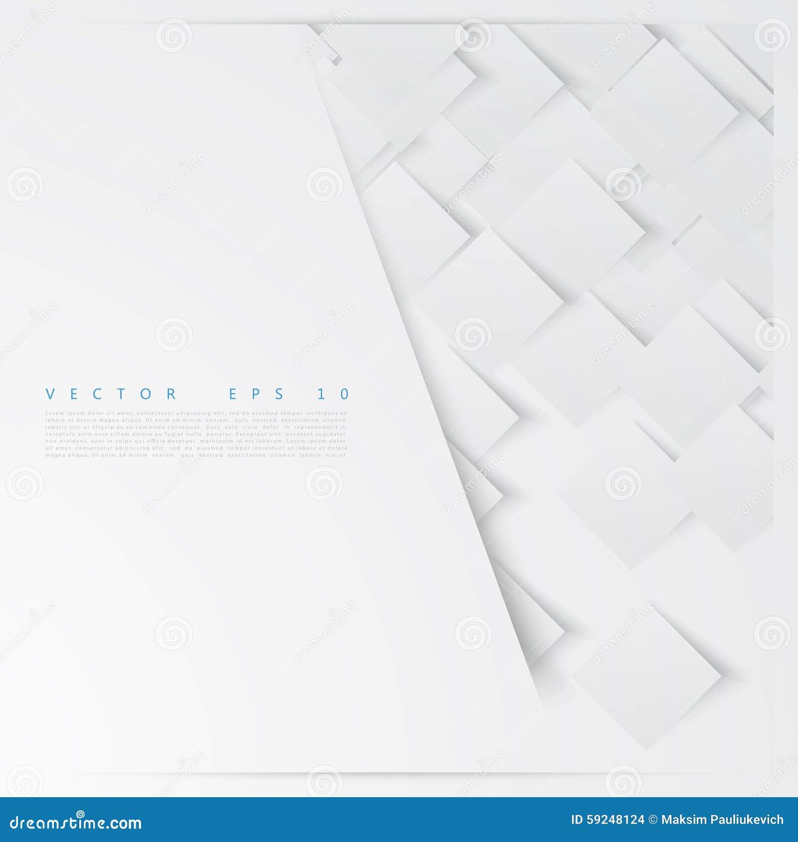 Casillas blancas del vector abstraiga el fondo