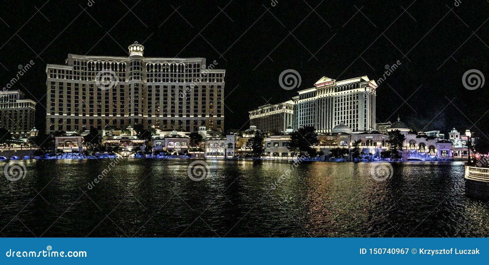 Casinò di Las Vegas di notte