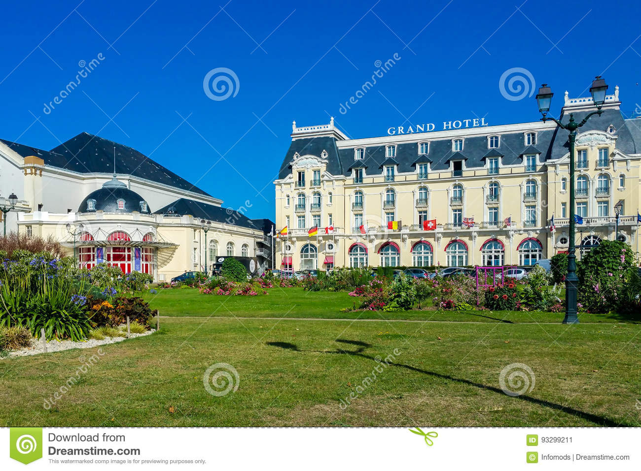 Casino Of Cabourg And The Grand Hotel Editorial Photo - Image of