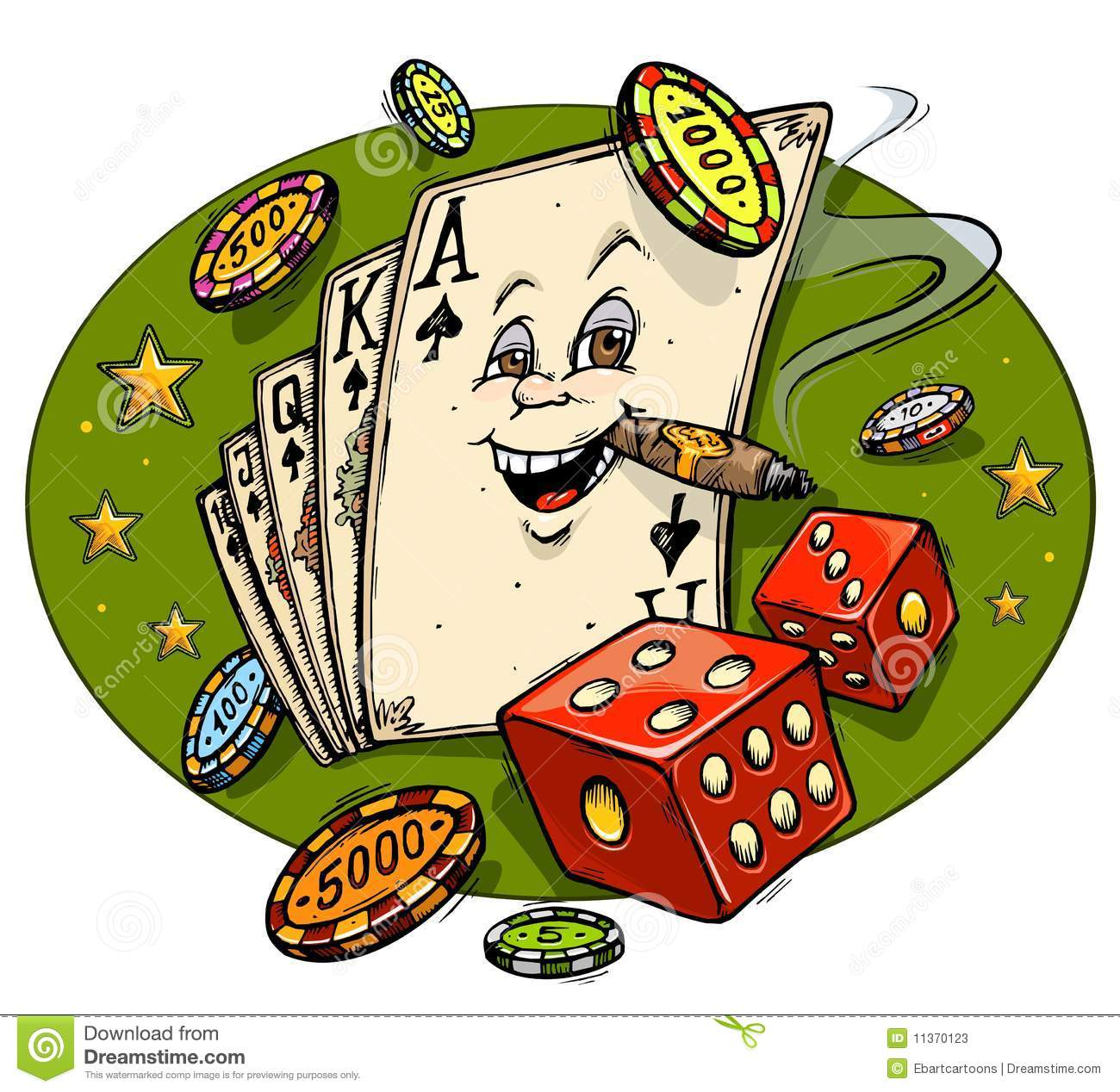 Casino Cartoon Mascot Stock Photos - Image: 11370123