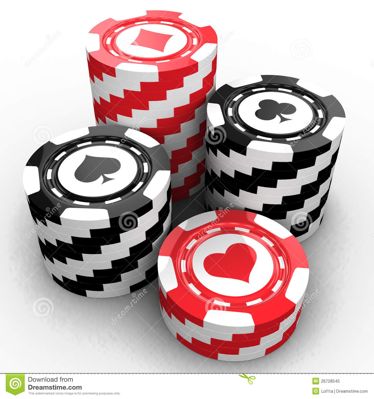 Casino Chips Royalty Free Stock Photo - Image: 26728545