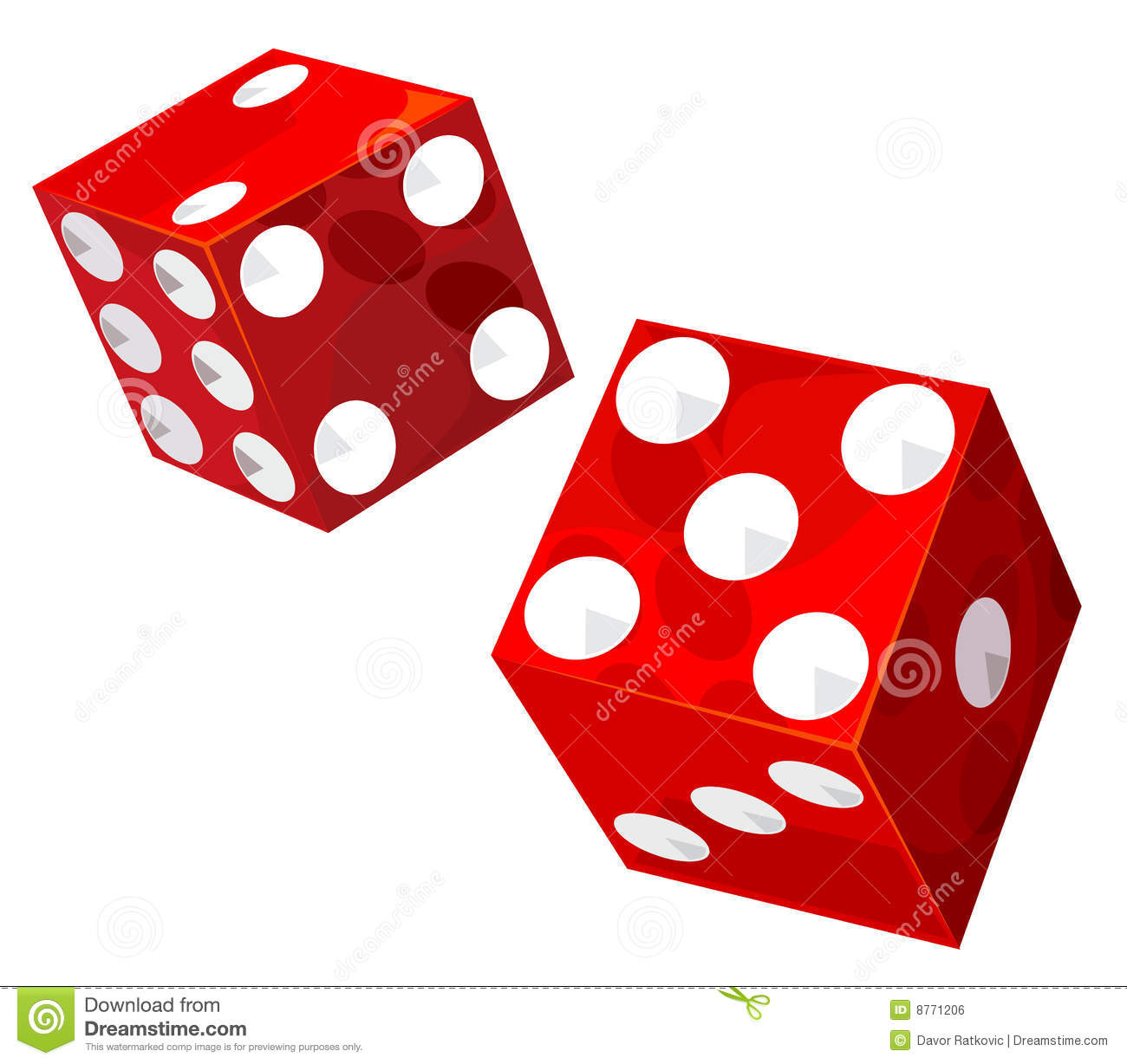 Casino transparent dice. Vector illustration without gradients and ...