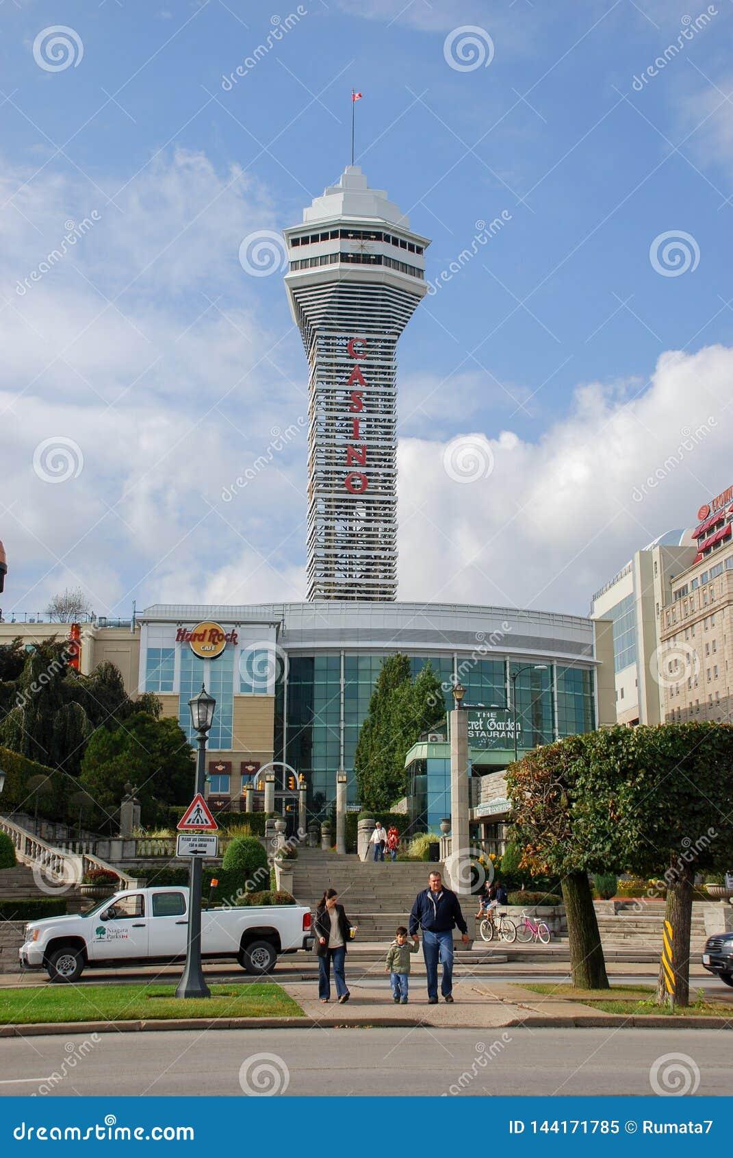 Casino And Hotels At Niagara Falls City Canada Editorial