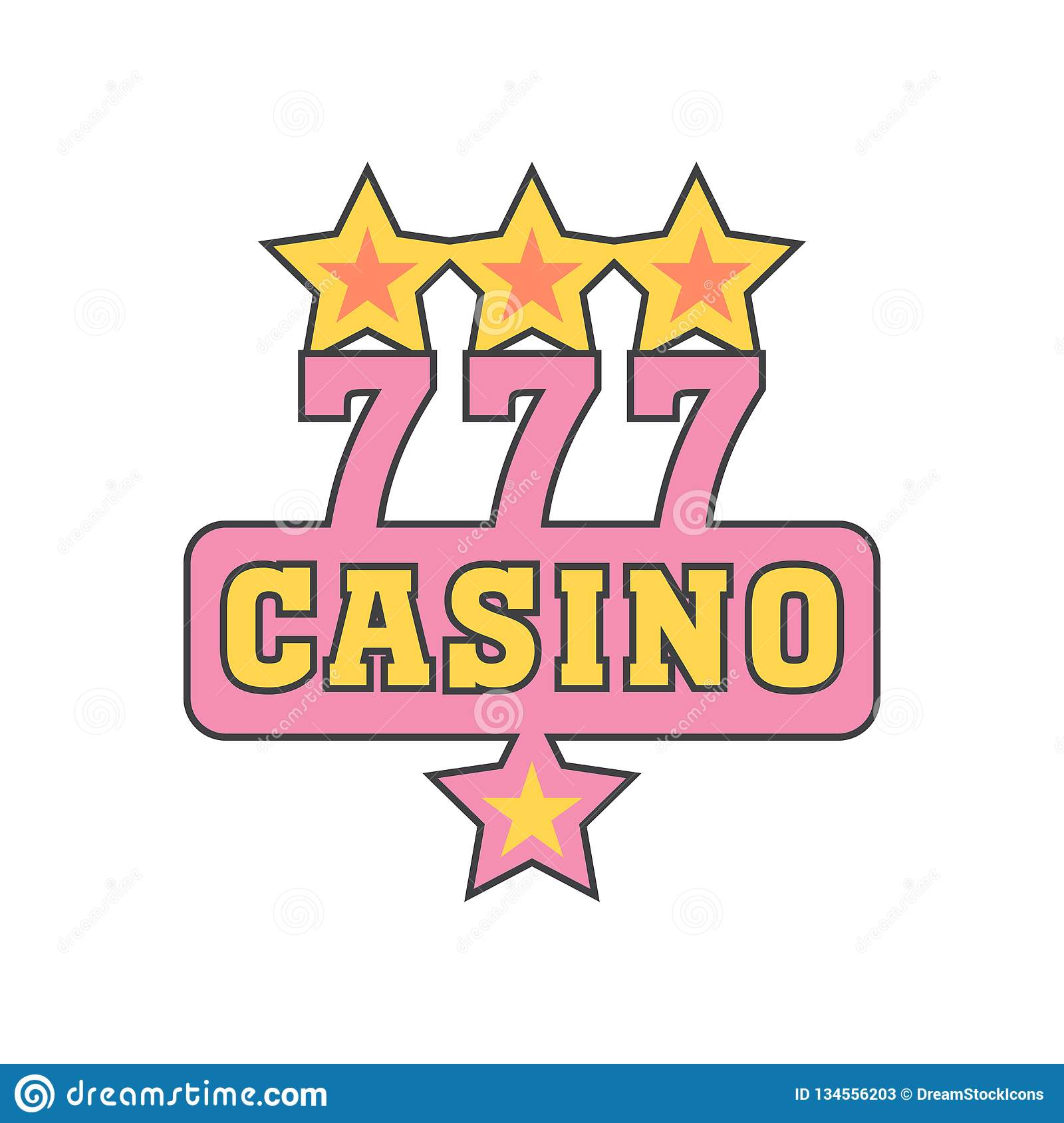 Casino icon vector sign and symbol isolated on white background, Casino logo concept