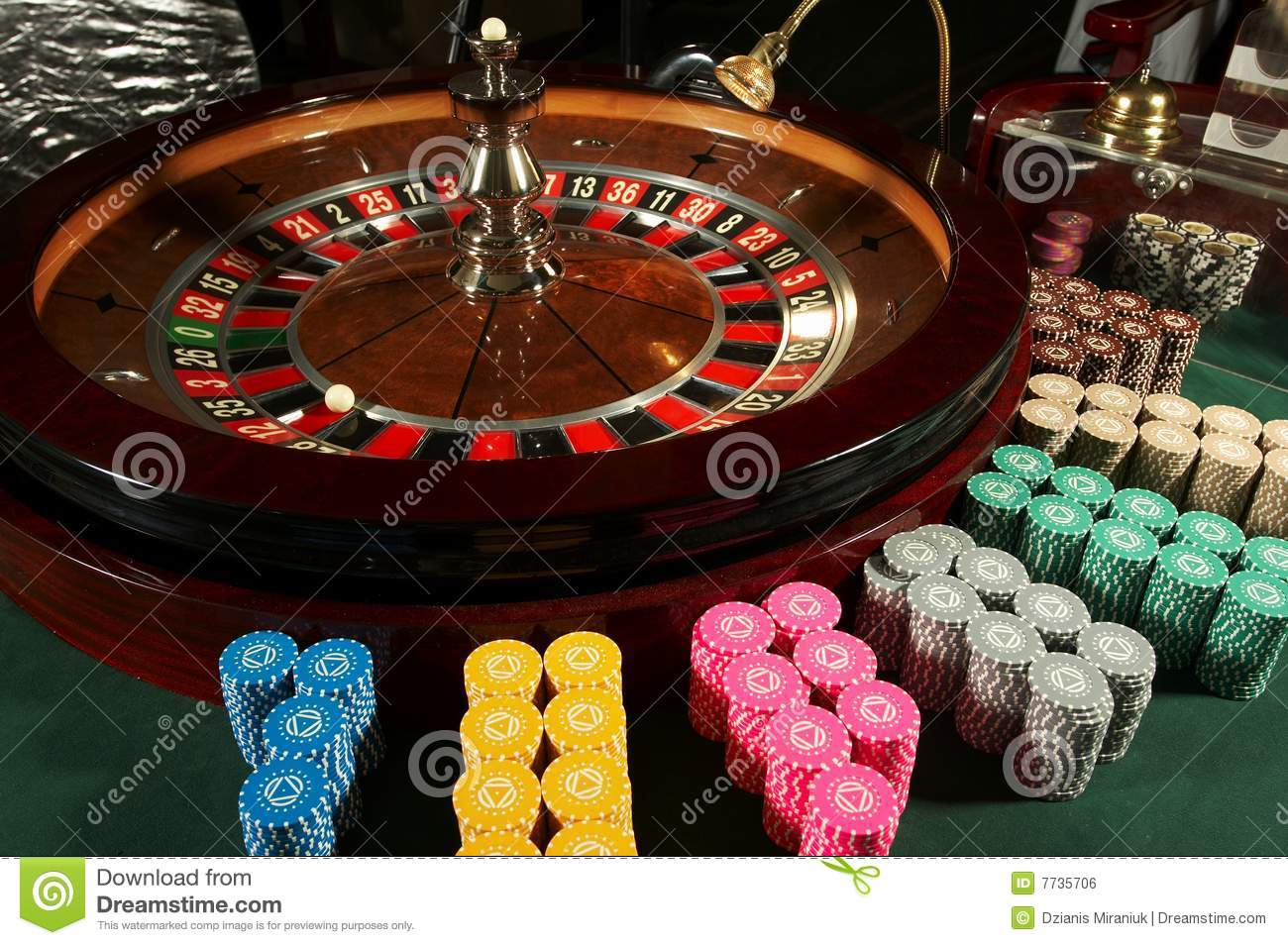 Casino with roulette tables