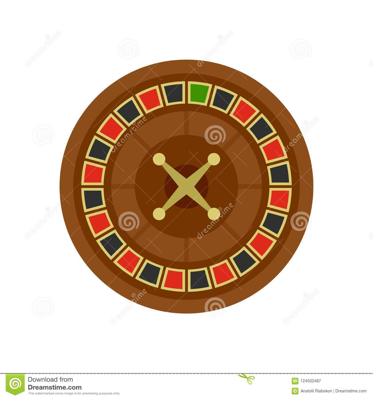 Casino roulette icon, flat style