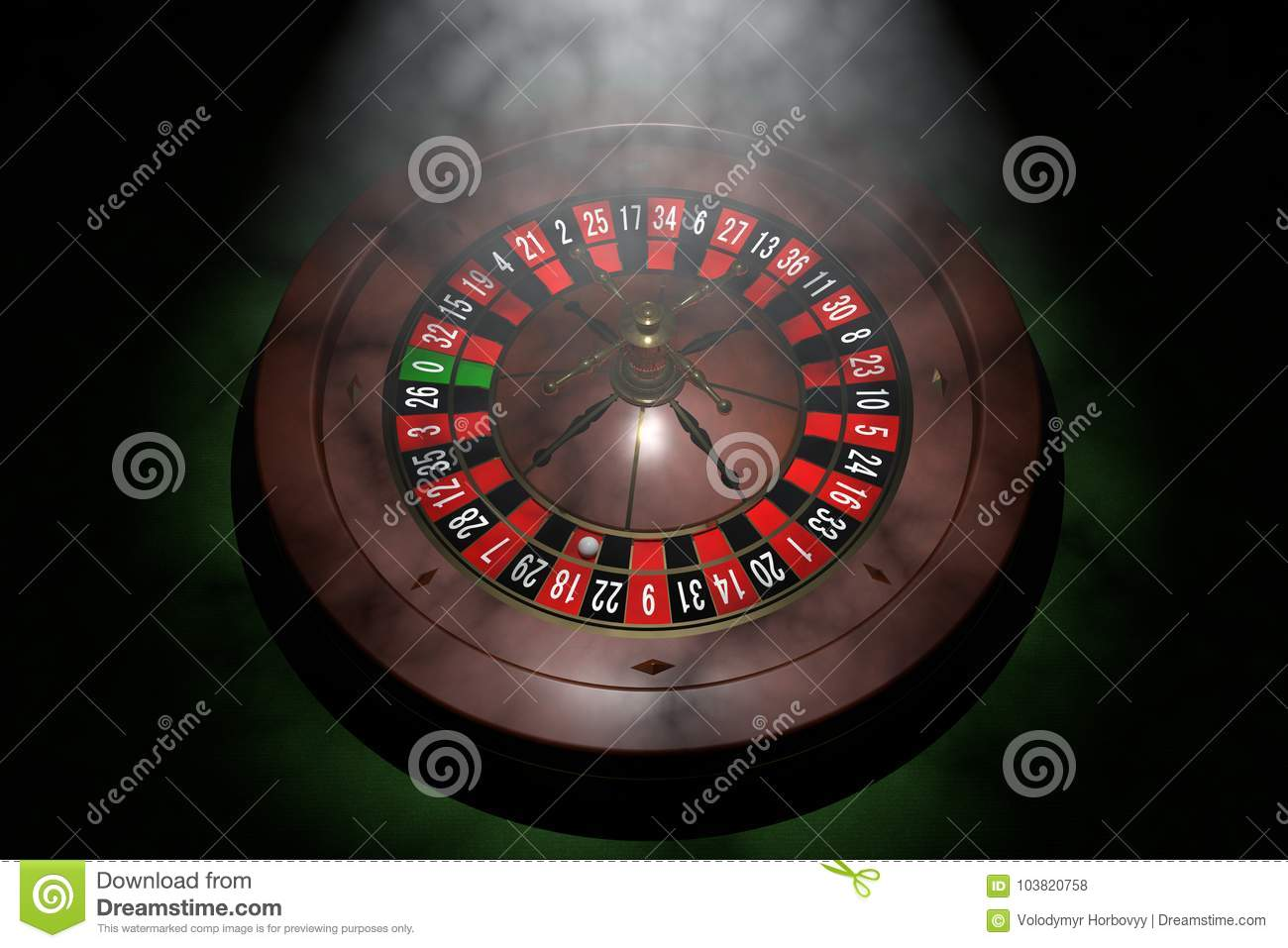 Casino roulette wheel. 3D render