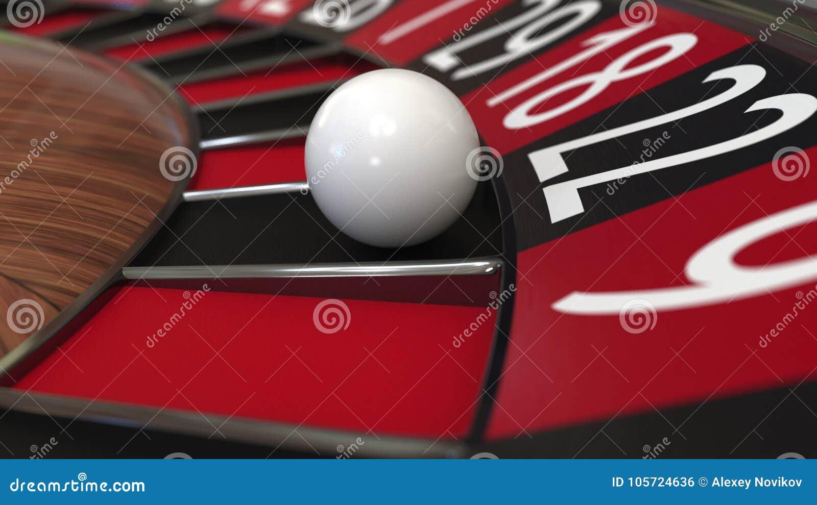Casino Roulette Wheel Ball Hits 22 Twenty Two Black 3d Rendering Stock Photo Image Of Score Chance 105724636