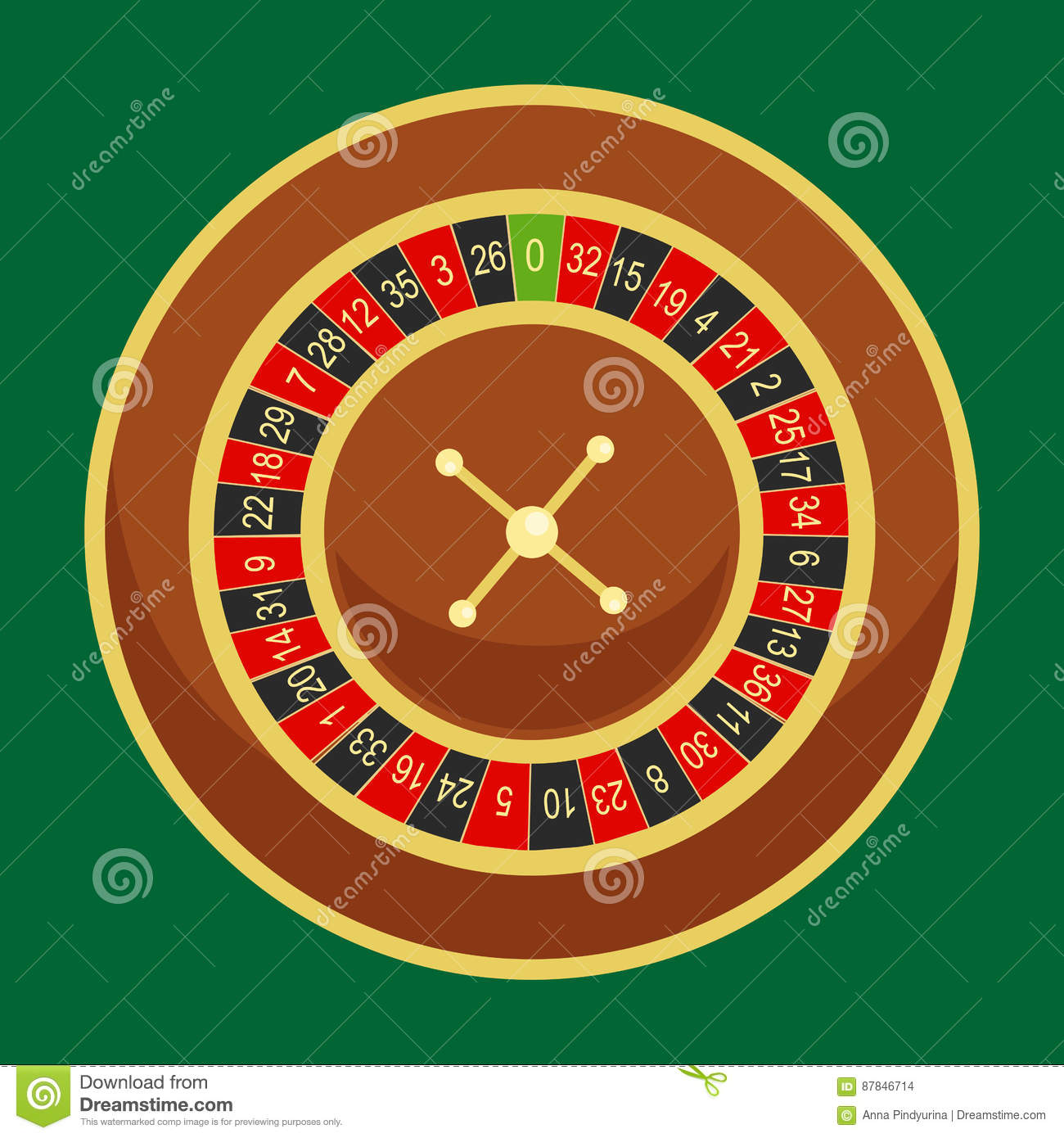 Casino roulette wheel go round for risk game in vegas, lucky gambling fortune, play in betting for chance on win