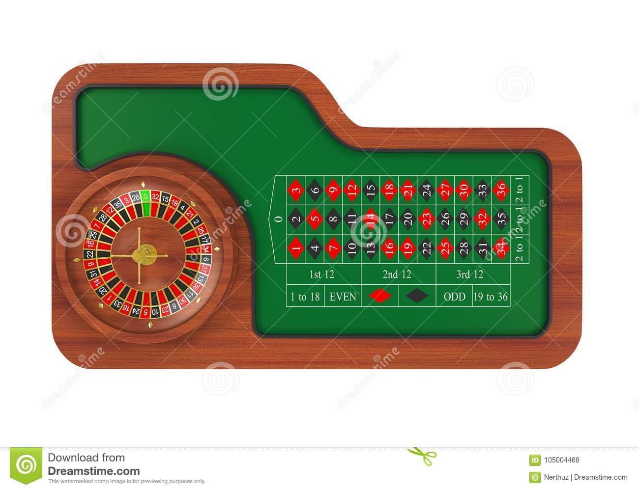 Casino Roulette Wheel Isolated