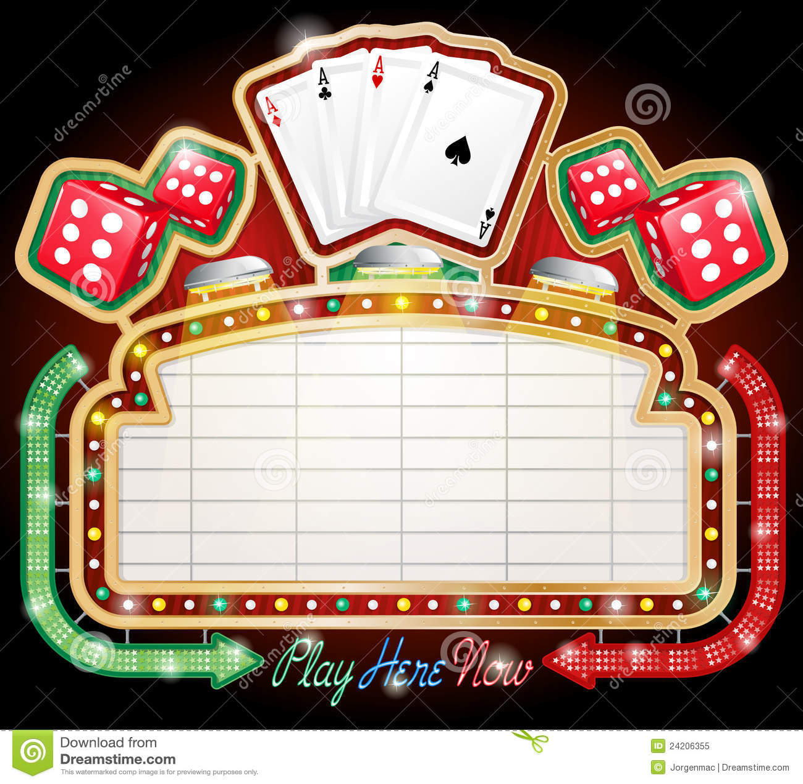 Casino Sign Royalty Free Stock Photo Image 24206355