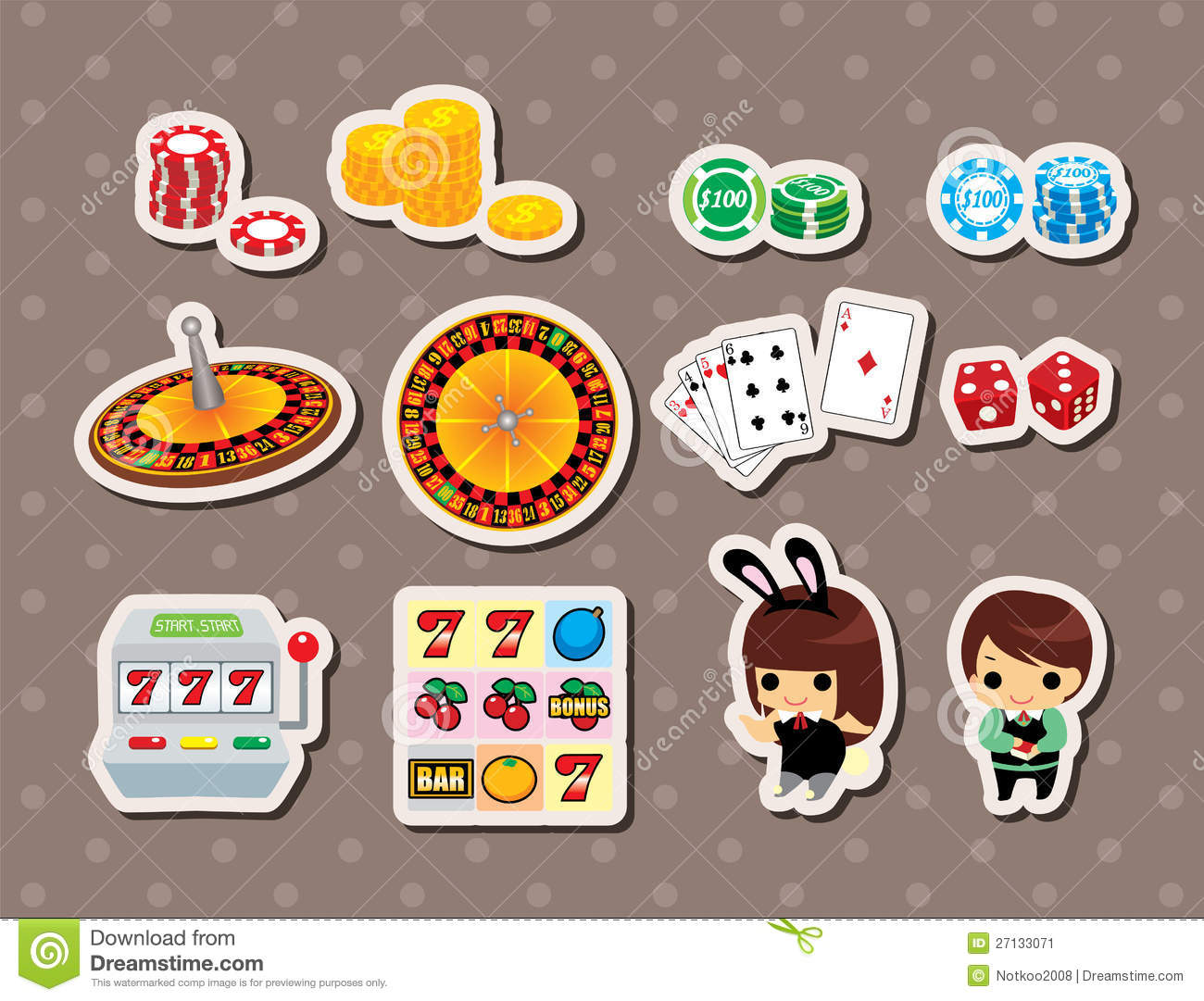 Casino stickers casino party facts
