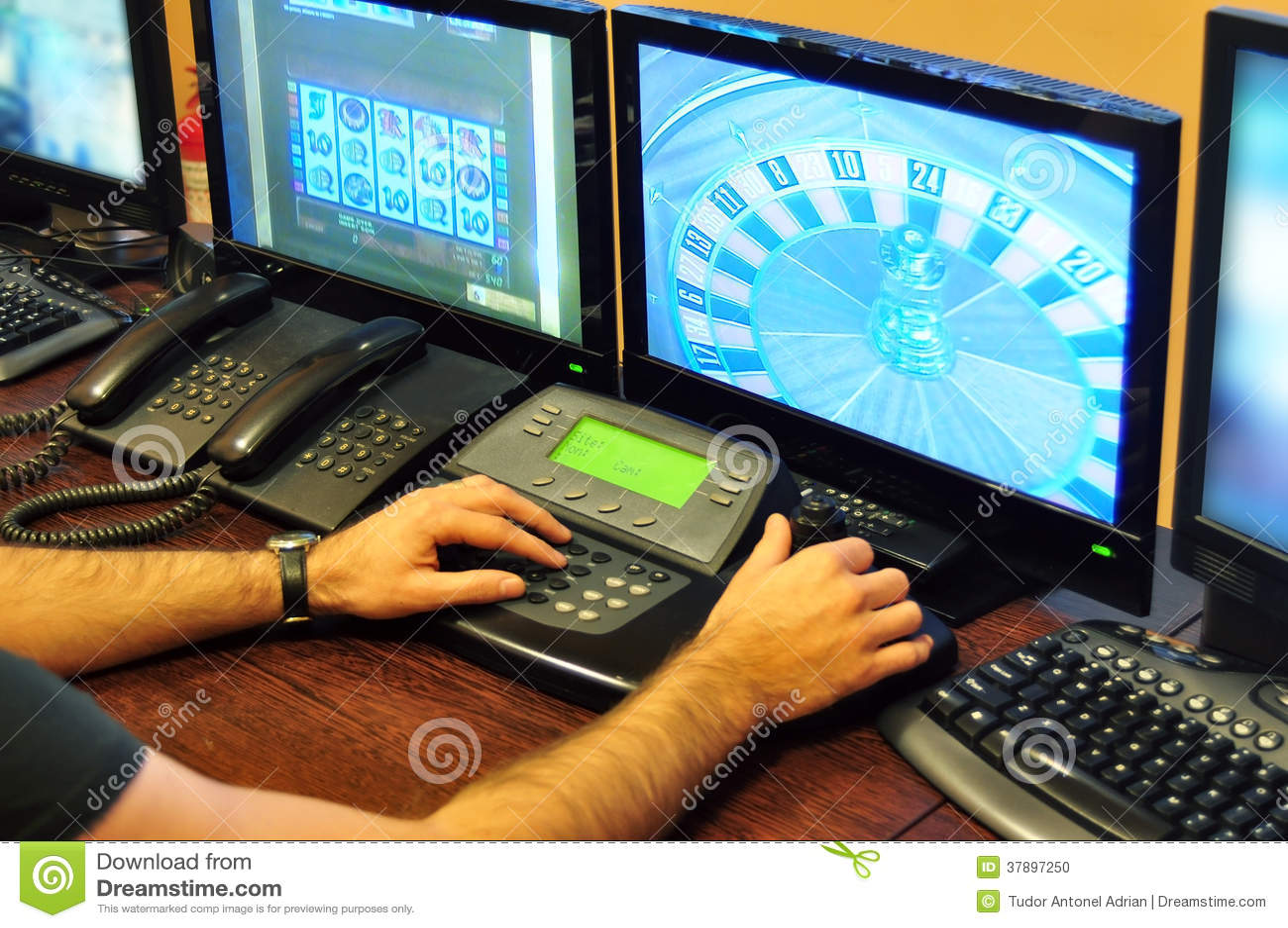 Casino Surveillance Stock Photo - Image: 37897250