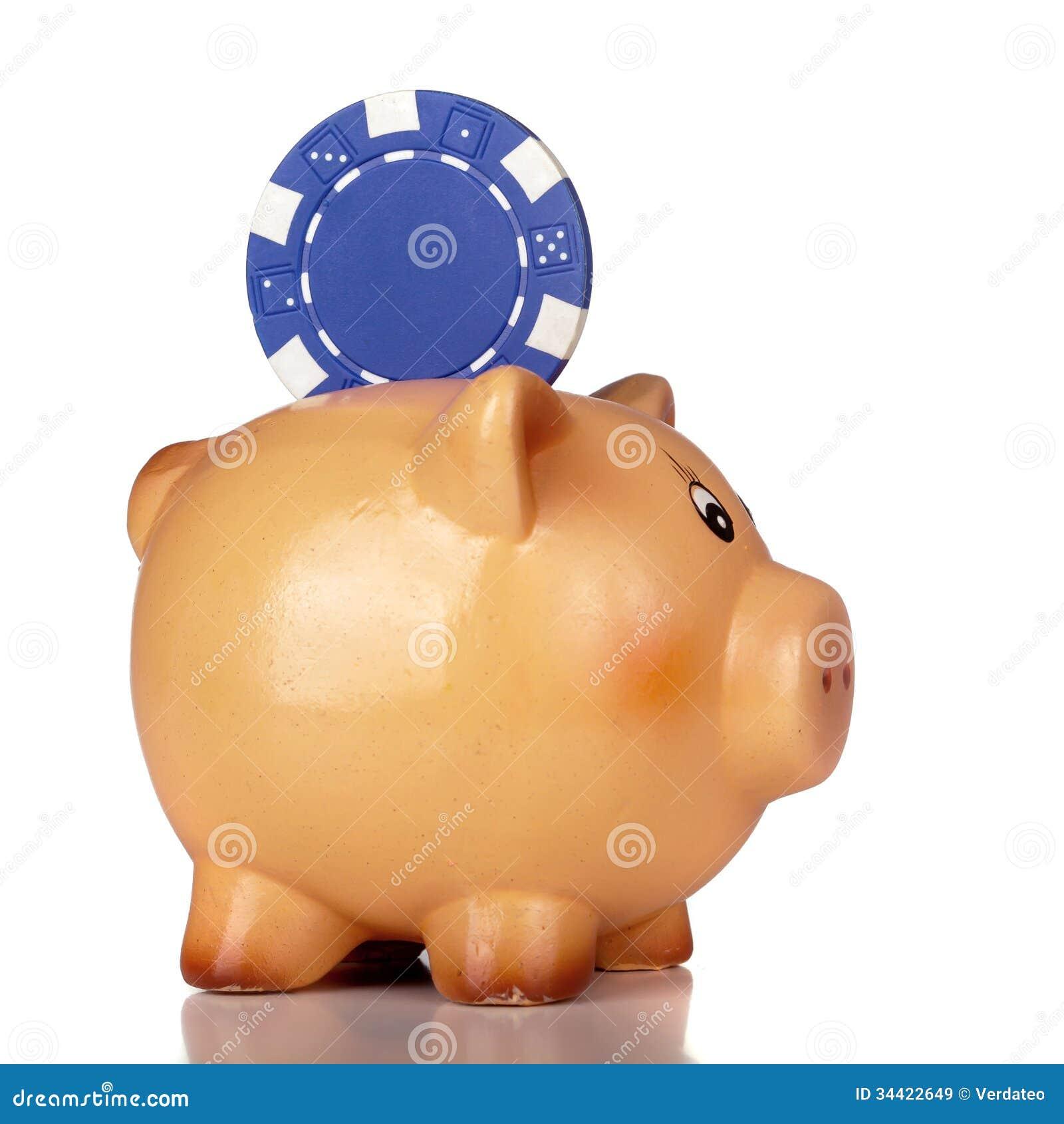 Gambling piggy bank