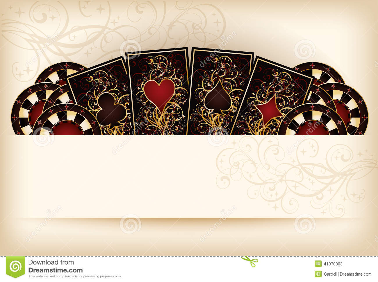 Casino Wallpaper With Poker Elements Stock Vector  Image 41970003