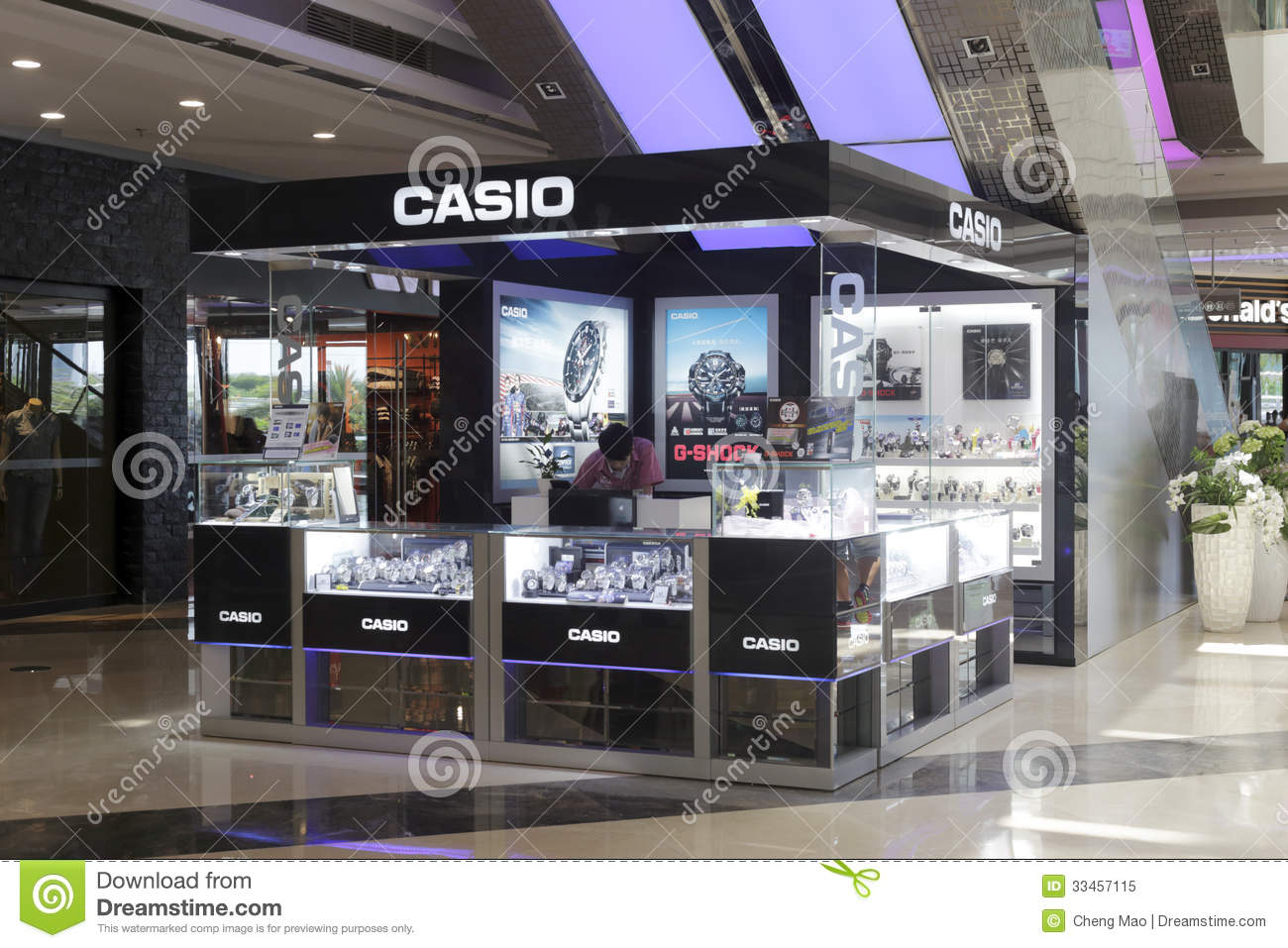 Casio watches counter editorial image. Image of market ...