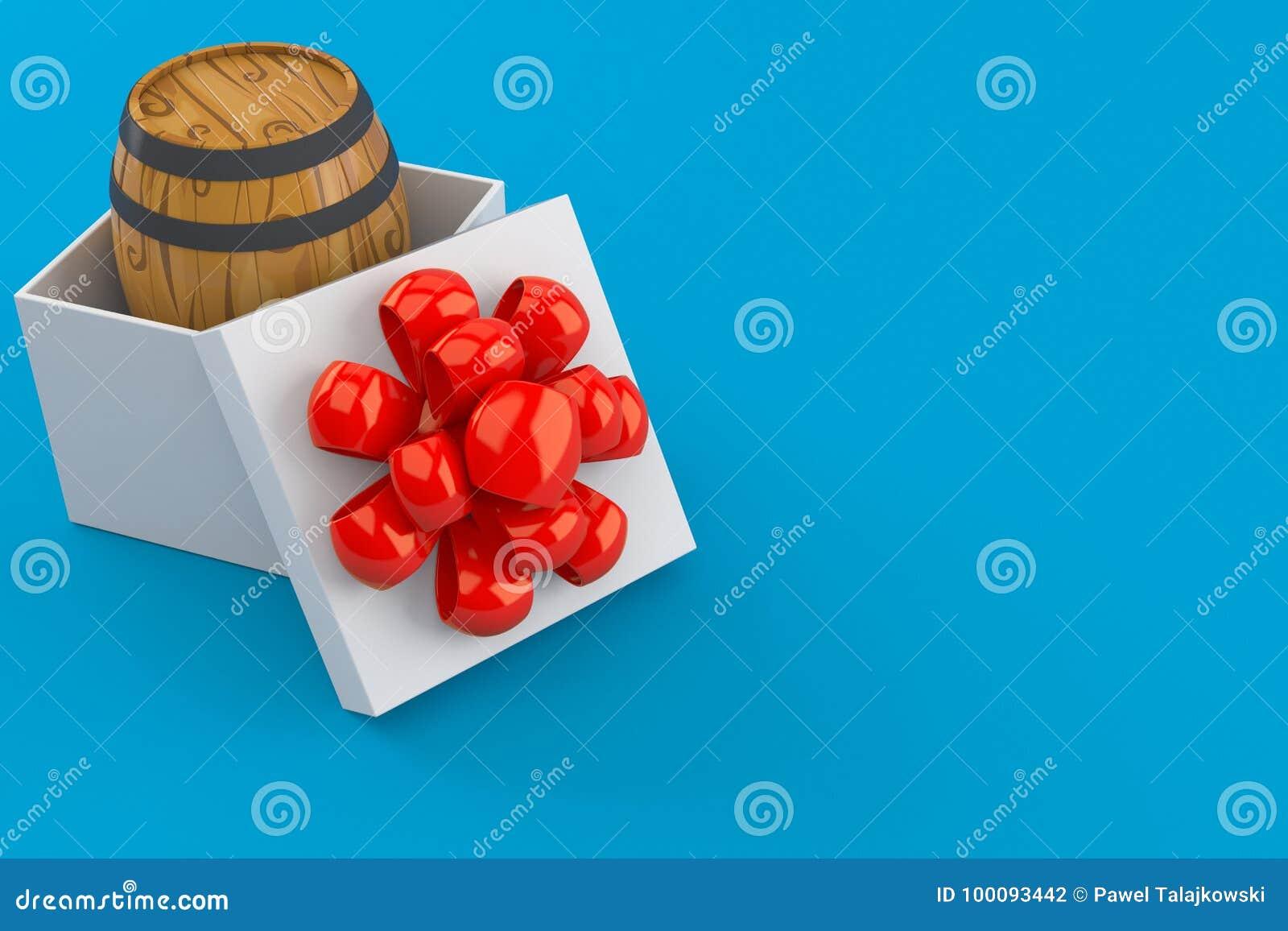 Cask inside gift