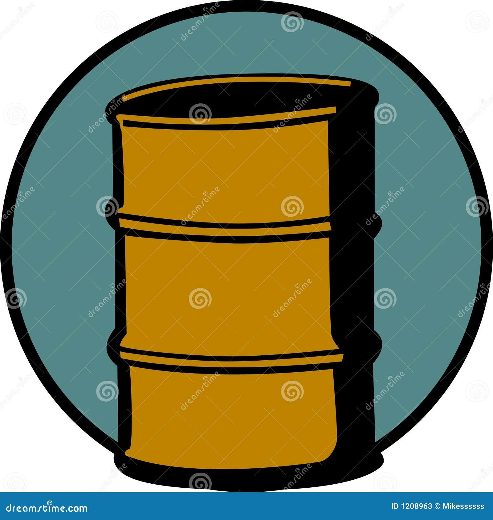 cask or metal barrel cointainer. Vector