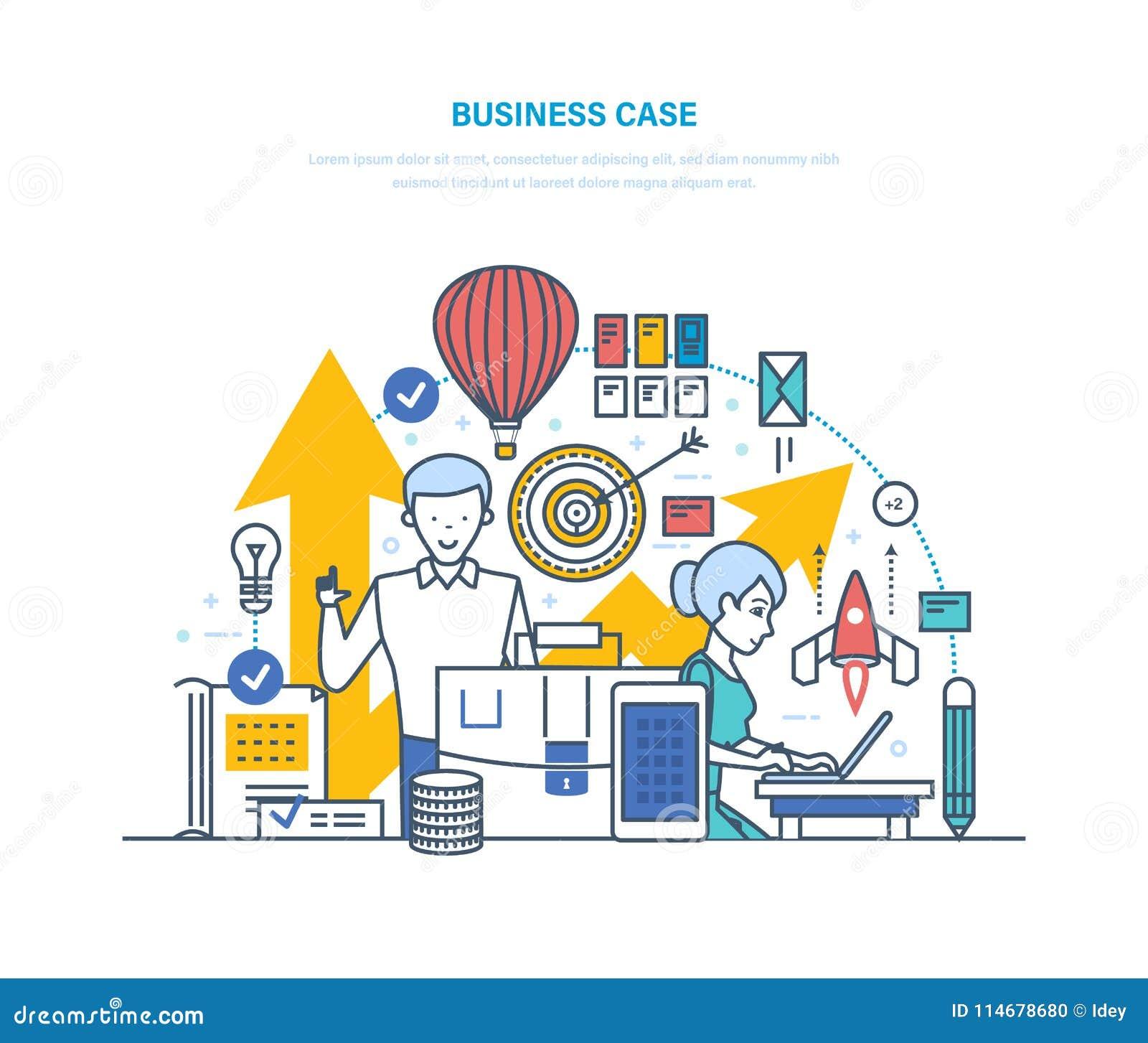 Caso do negócio Sentido das tarefas, problemas empresa, realização dos objetivos