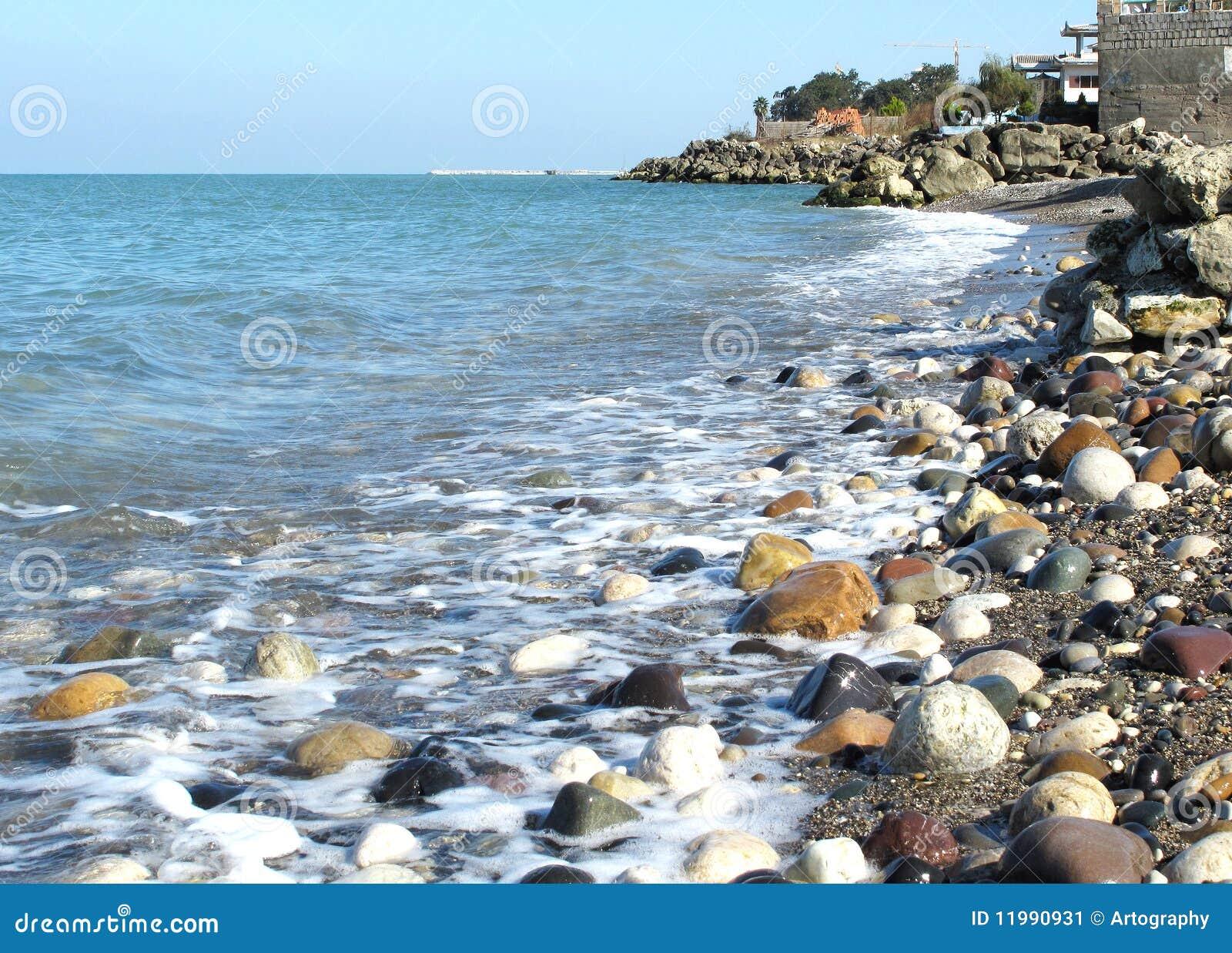 Caspian Beach Stock Image - Image: 11990931