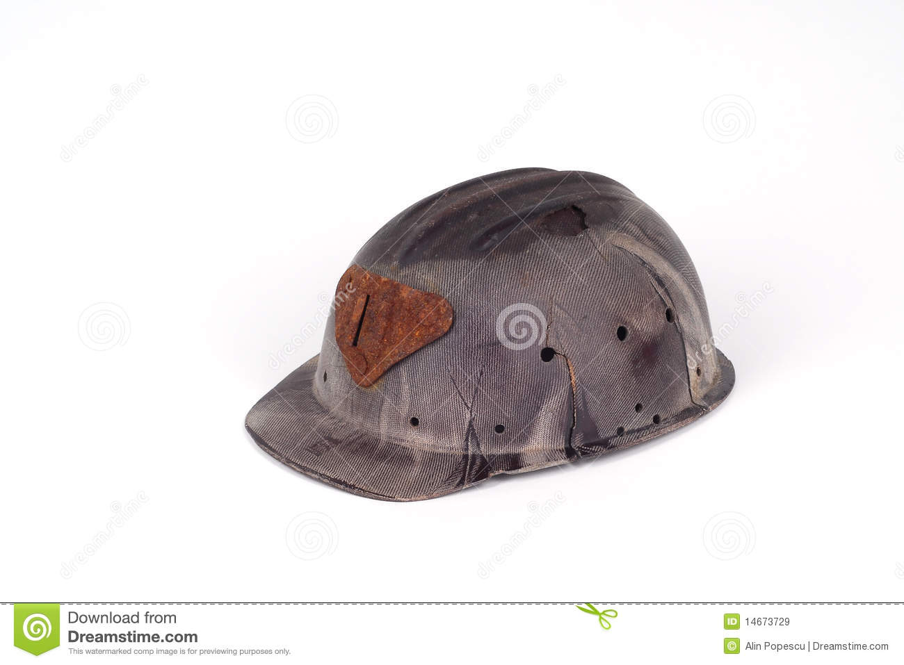 casque de bak lite d 39 un mineur images libres de droits image 14673729. Black Bedroom Furniture Sets. Home Design Ideas