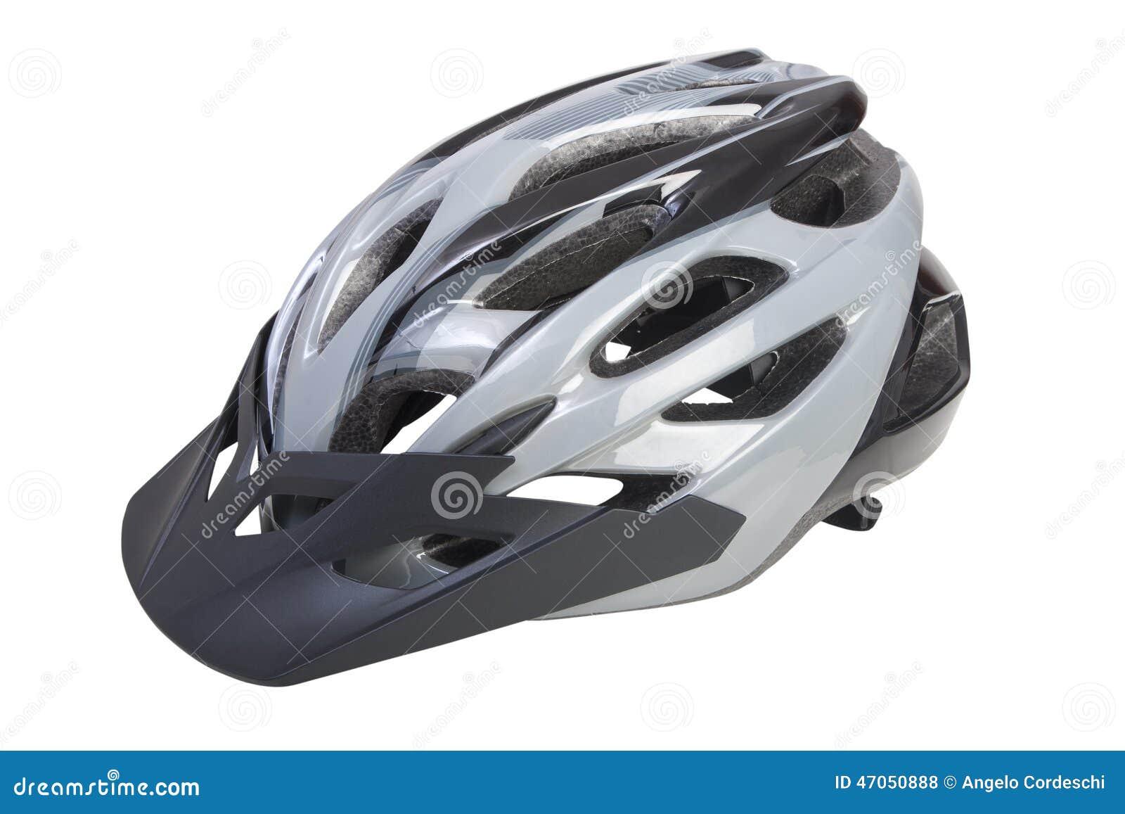 Casque De Bicyclette Avec Le Pare-soleil Sur Le Fond Blanc ...