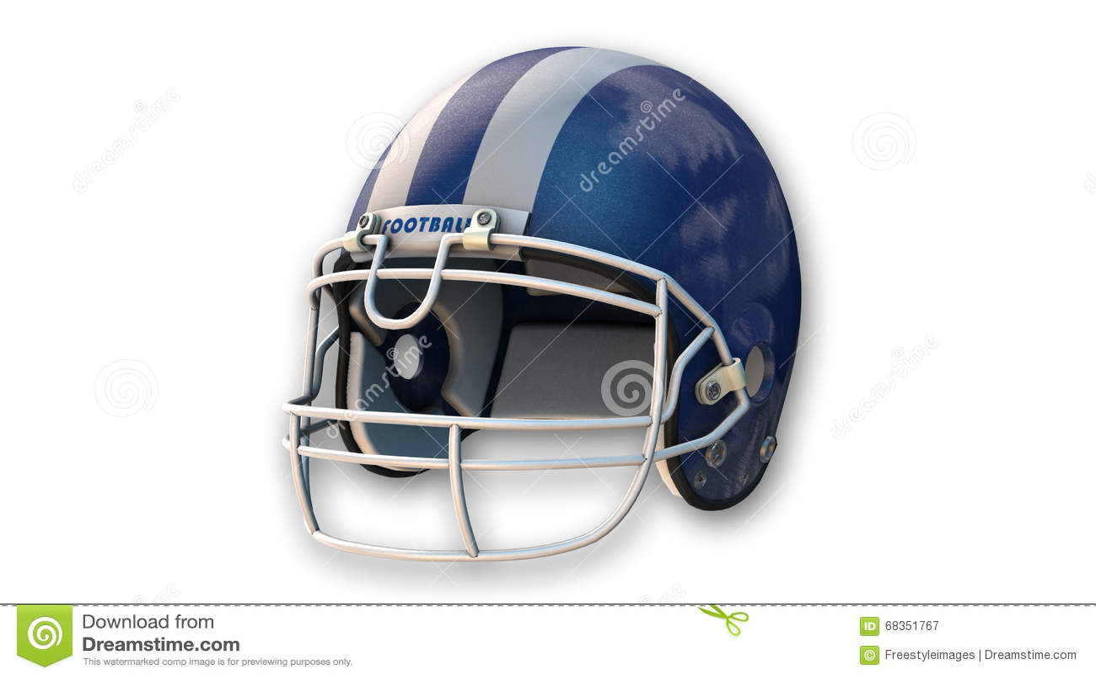casque de football am ricain bleu article de sport sur le blanc illustration stock image. Black Bedroom Furniture Sets. Home Design Ideas