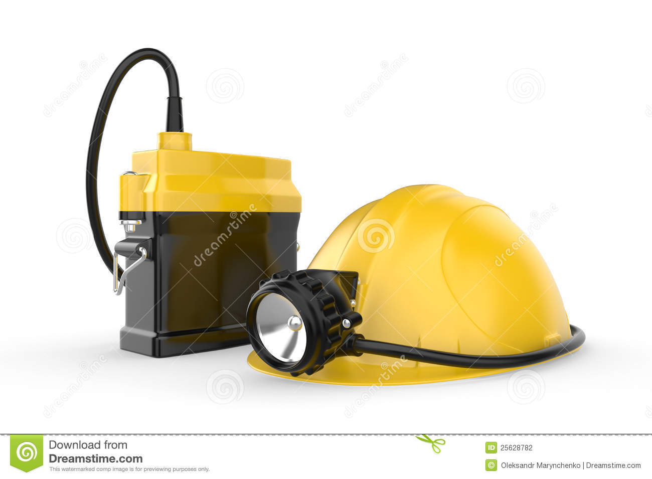 casque de mineurs avec la lampe sur un fond blanc photographie stock image 25628782. Black Bedroom Furniture Sets. Home Design Ideas