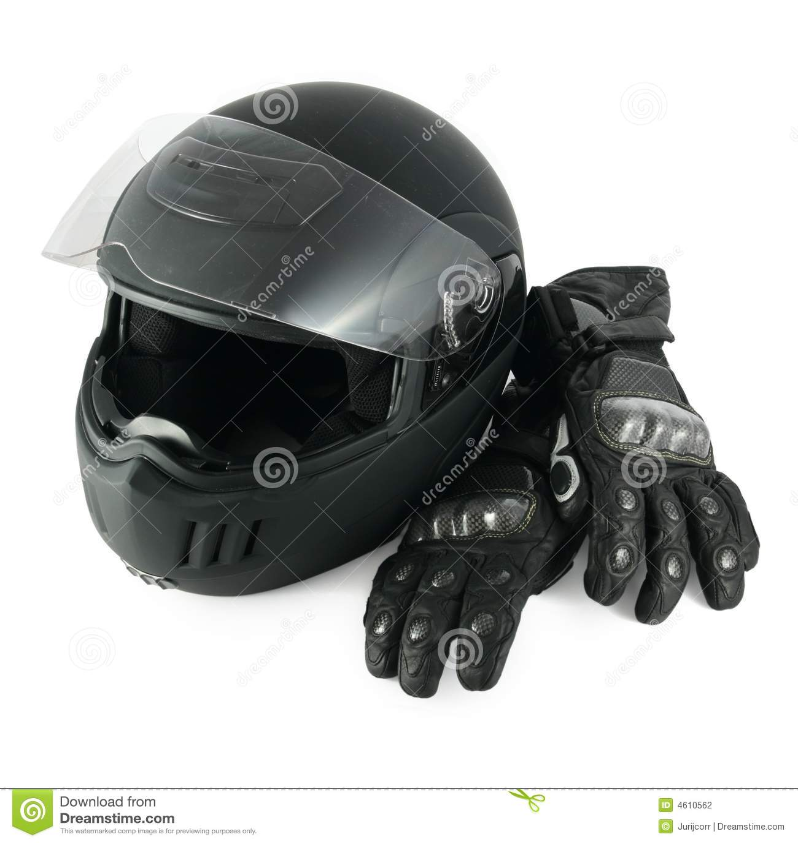 Casque et gants de moto