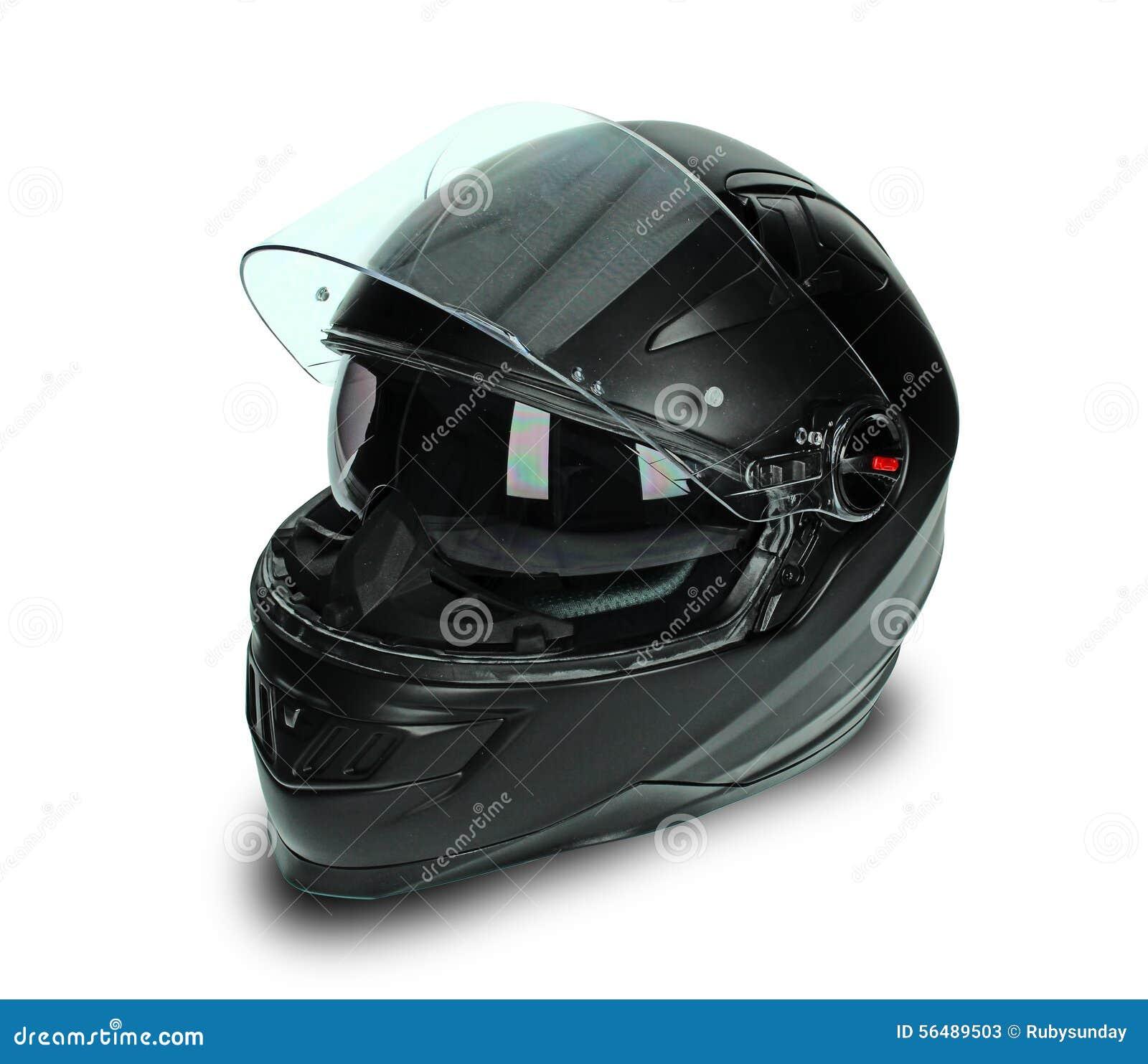 Casque noir de moto