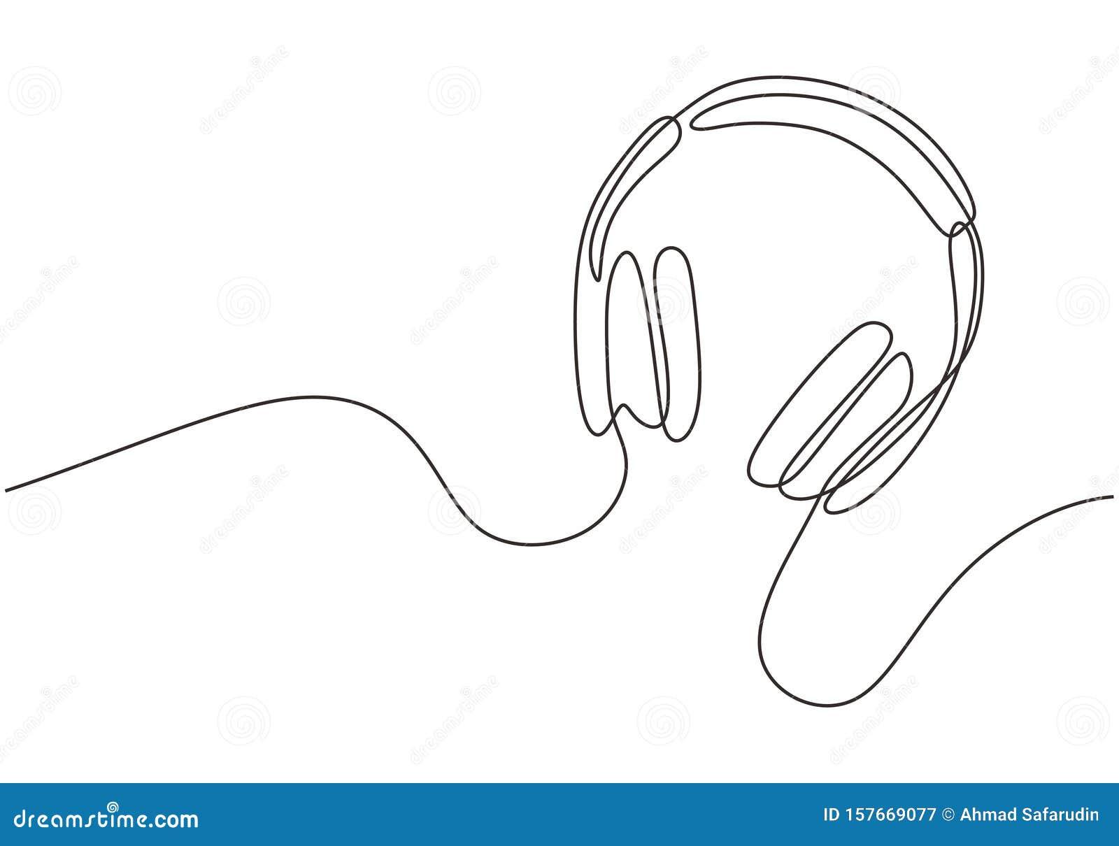 Casques Avec Musique Et Symboles Technologiques Illustration