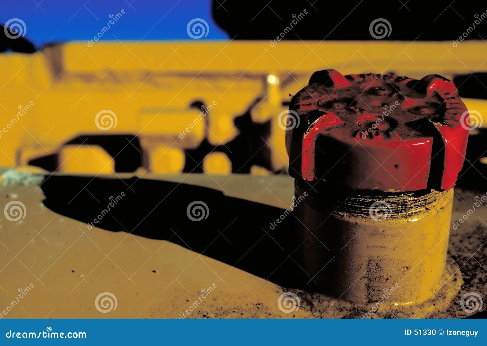 Casquillo de gas rojo