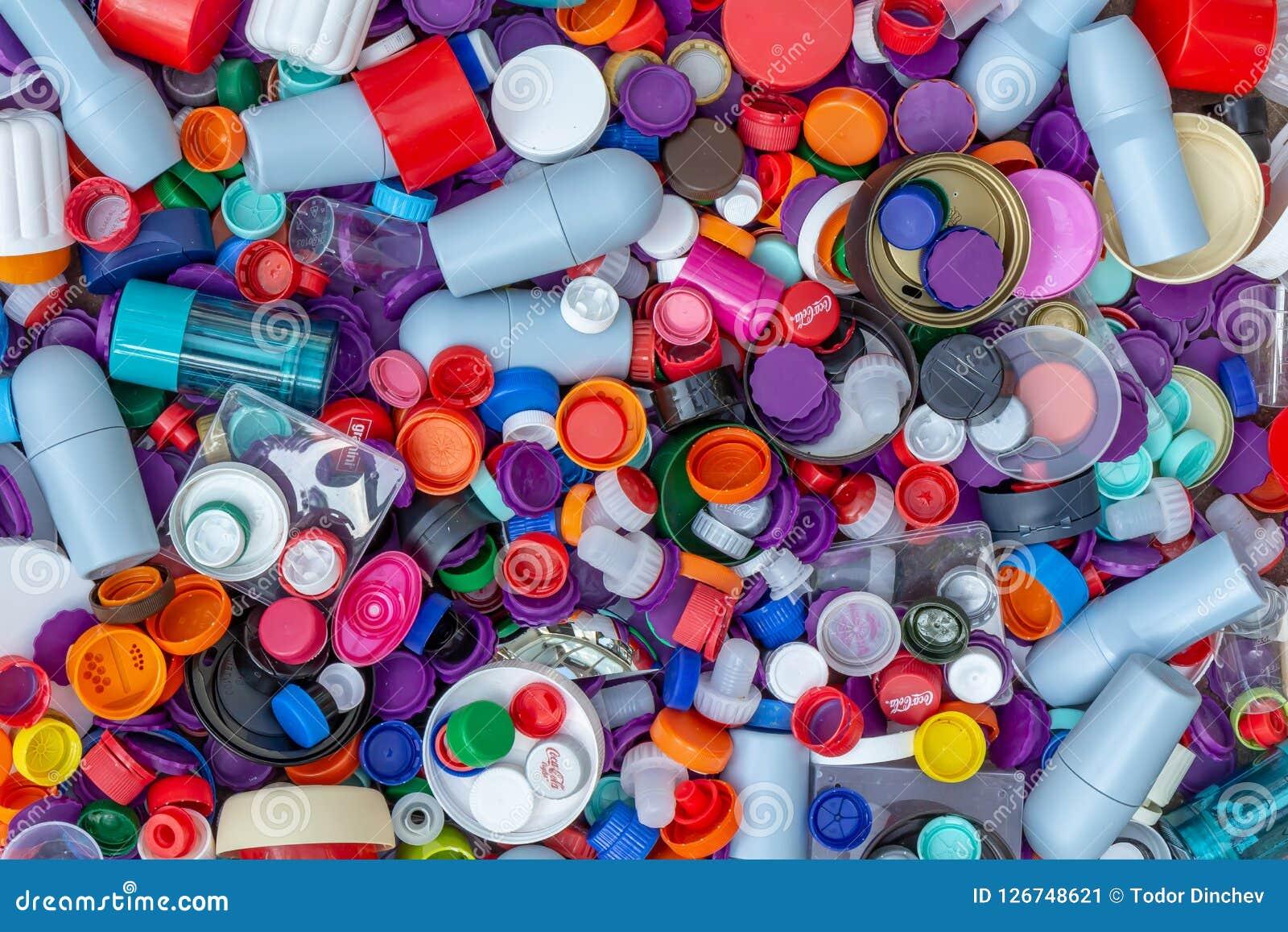 Casquillos plásticos Reciclaje, ambiente, ecología