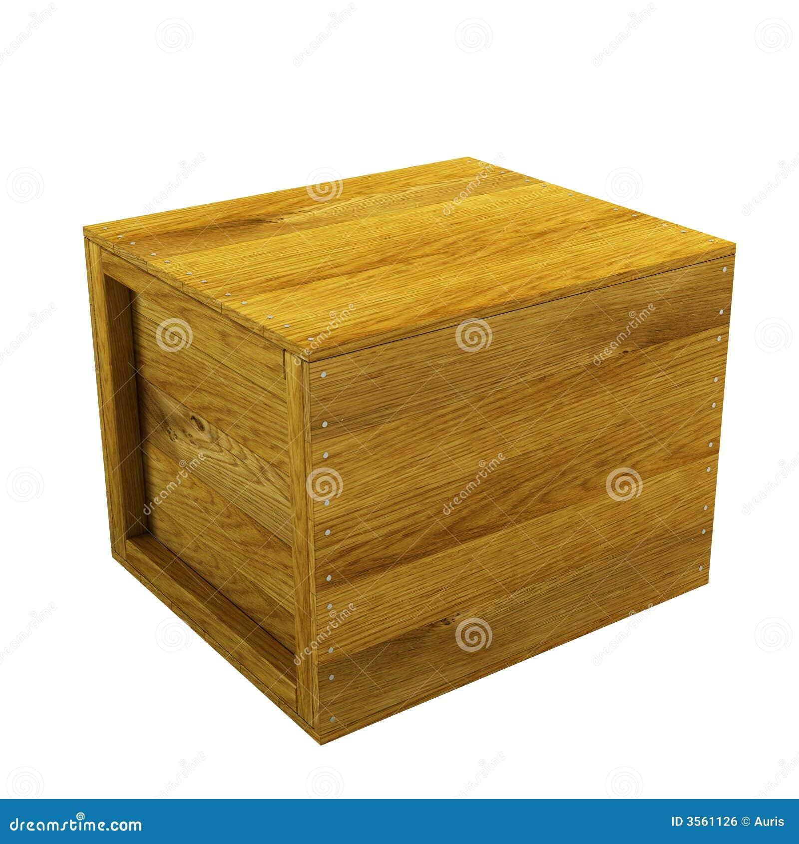 Cassa di legno isolata