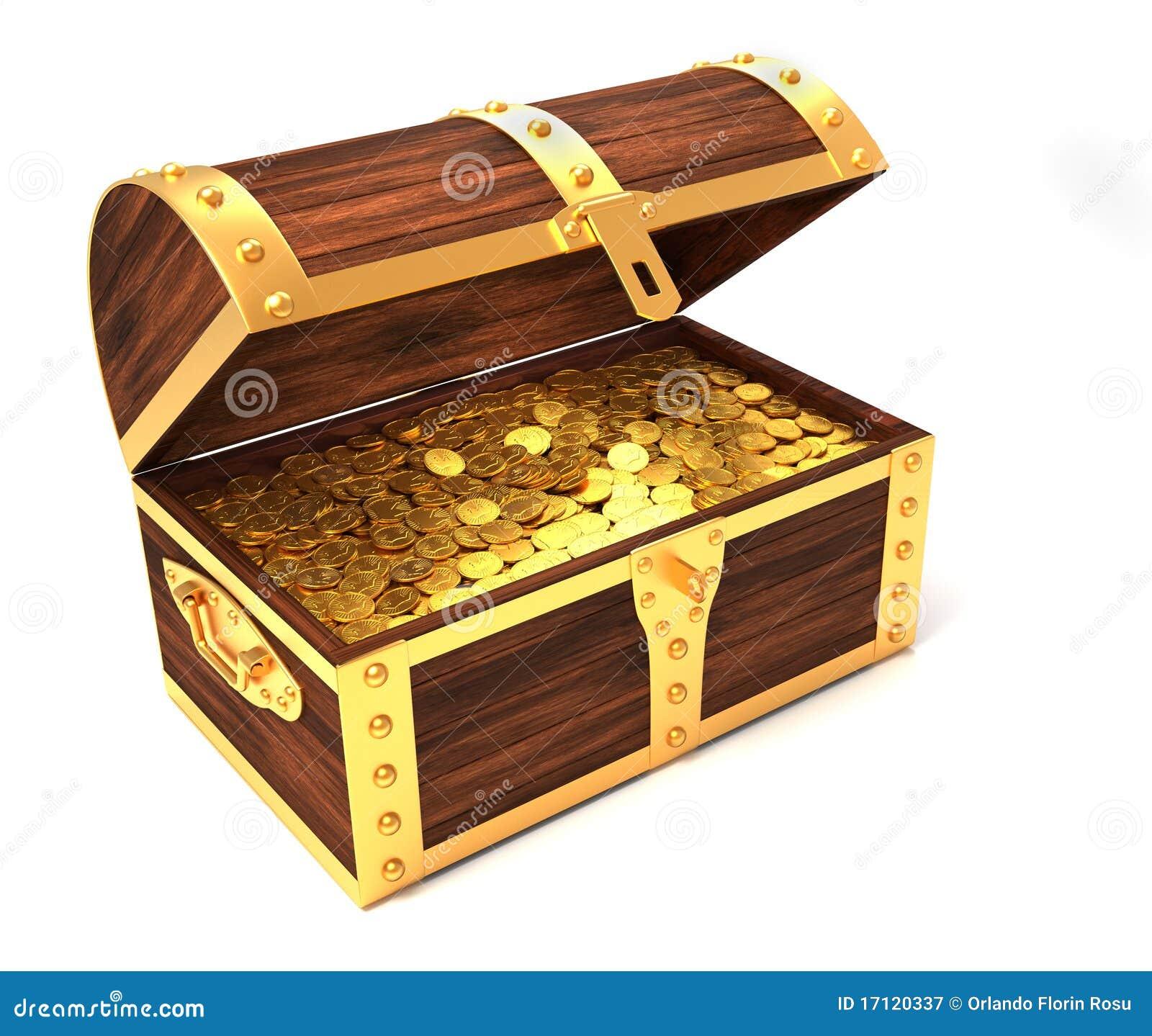 Cassa Di Tesoro Di Legno Illustrazione Di Stock Illustrazione Di