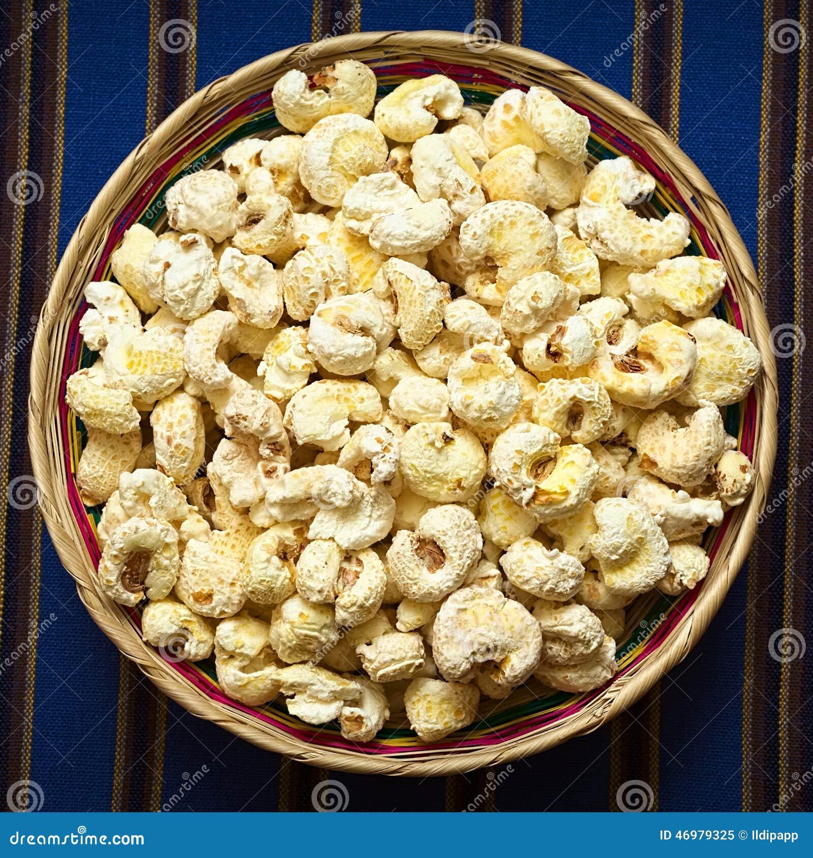 Casse-croûte bolivien Pasancalla (maïs blanc sauté adouci)