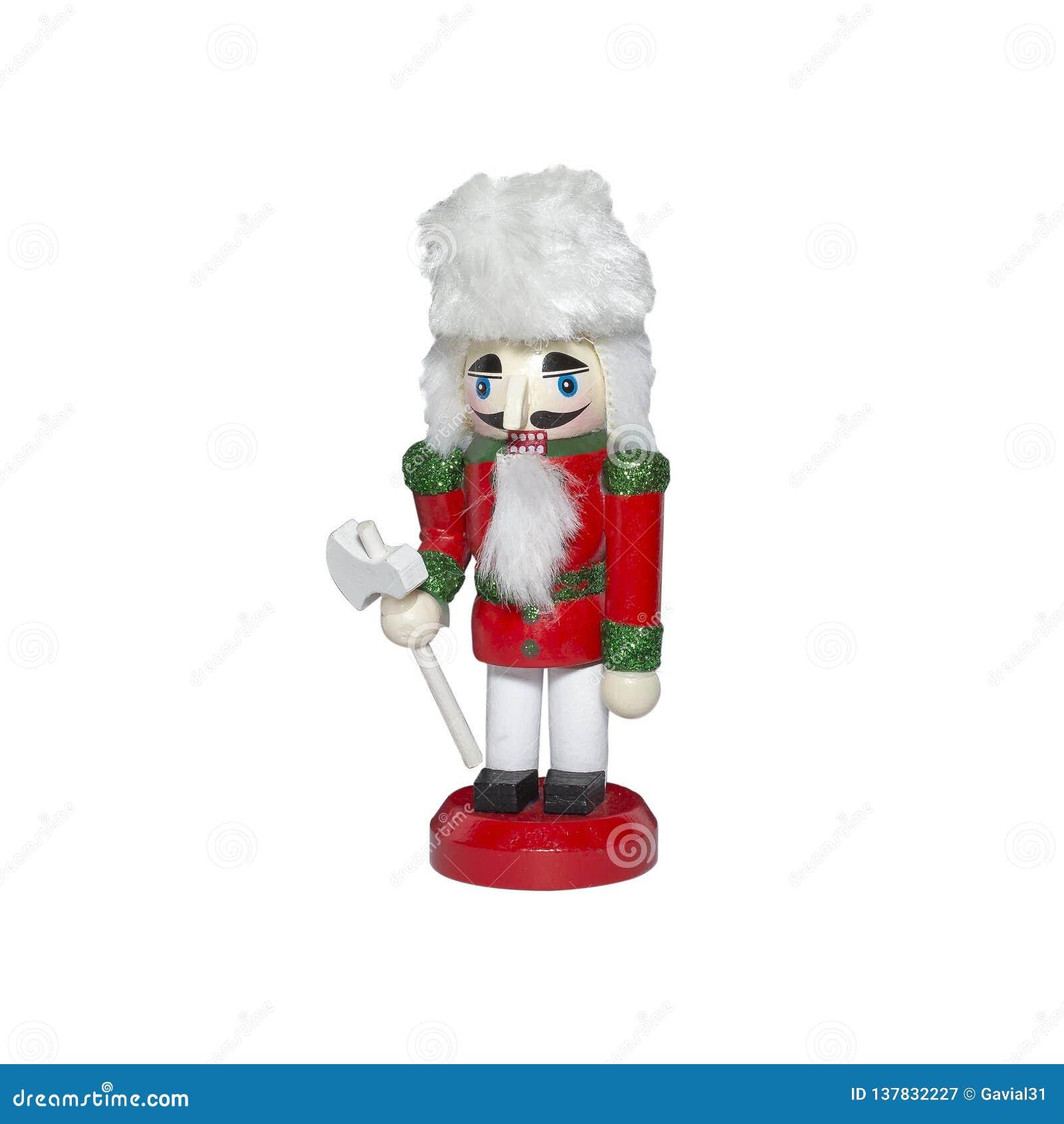 Casse-noix statuette en bois d isolement sur le fond blanc